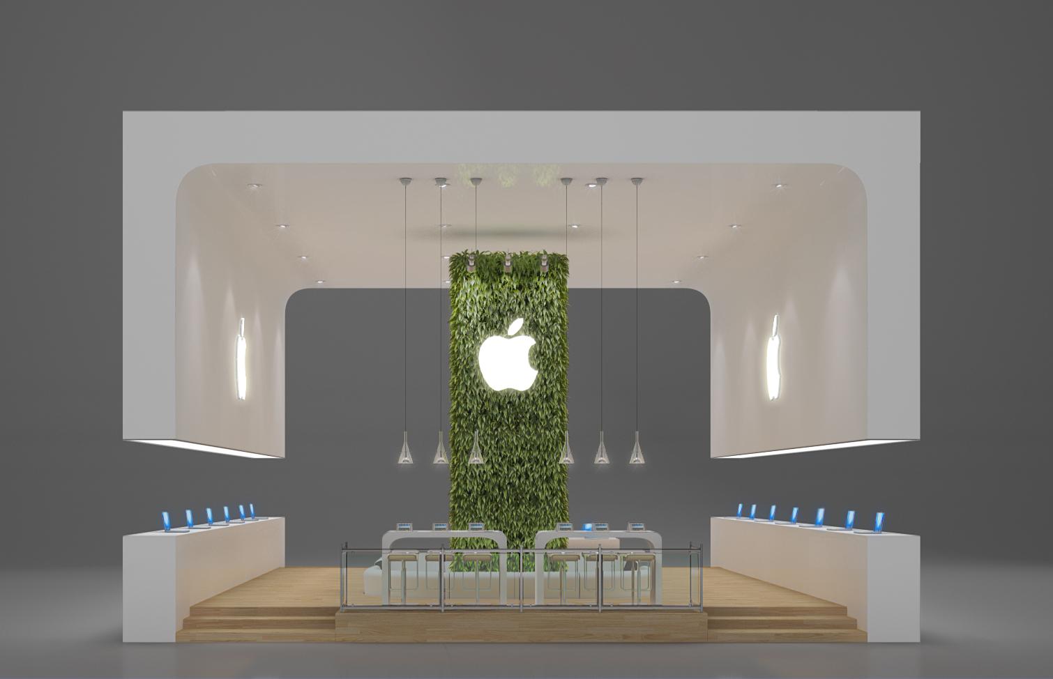 Exhibition Stand Minimalist : Exhibition design apple by leticia velasco at coroflot