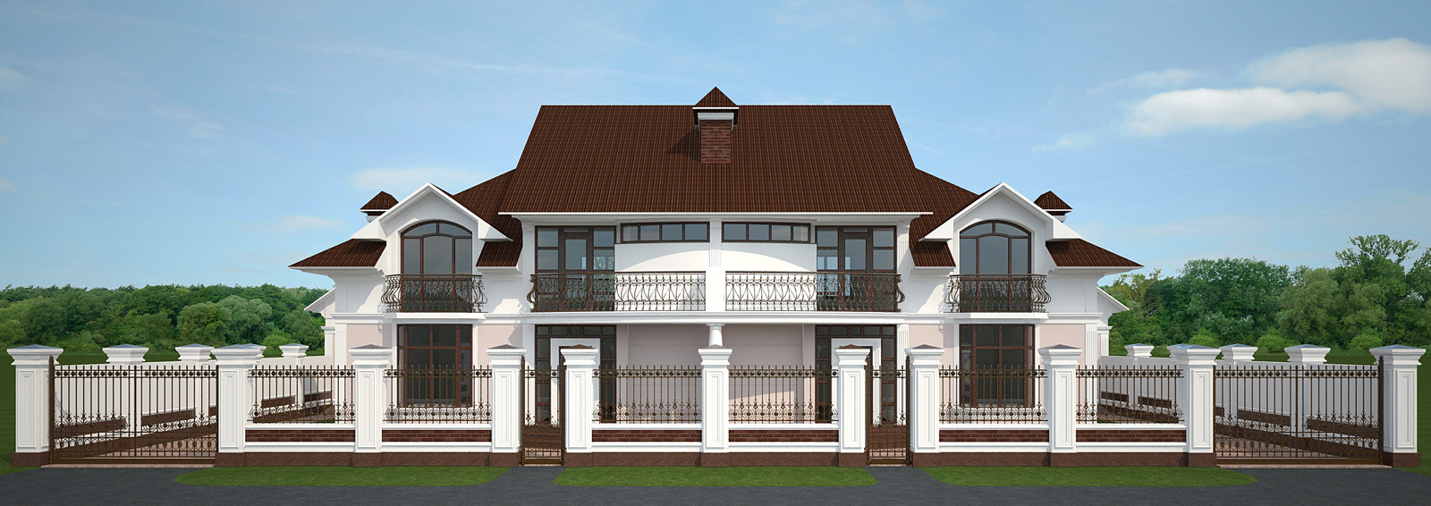 House classic style exterior decoration by sergiu for Classic home exteriors