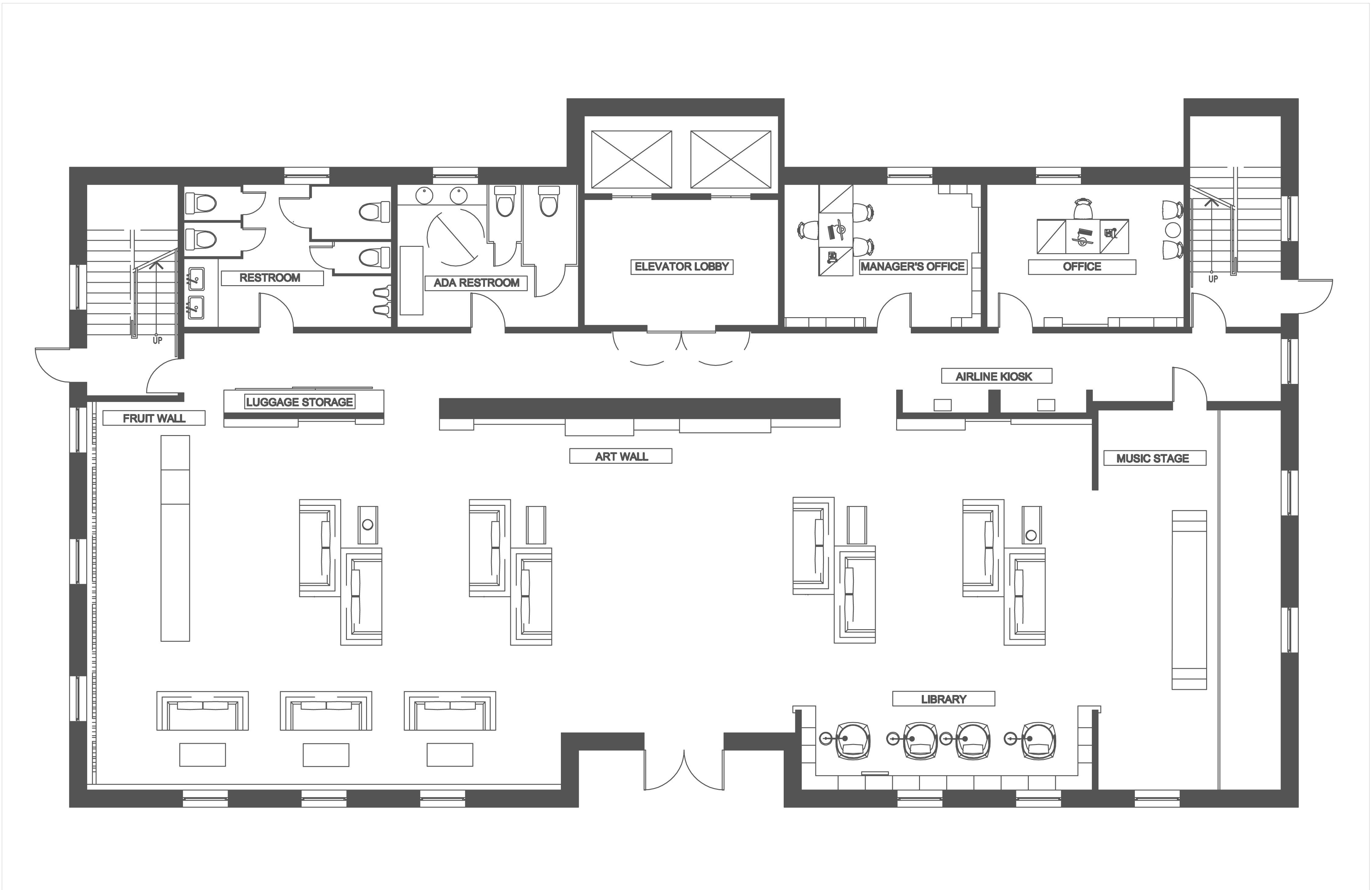 Hotel lobby floor plan - Hotel Lobby