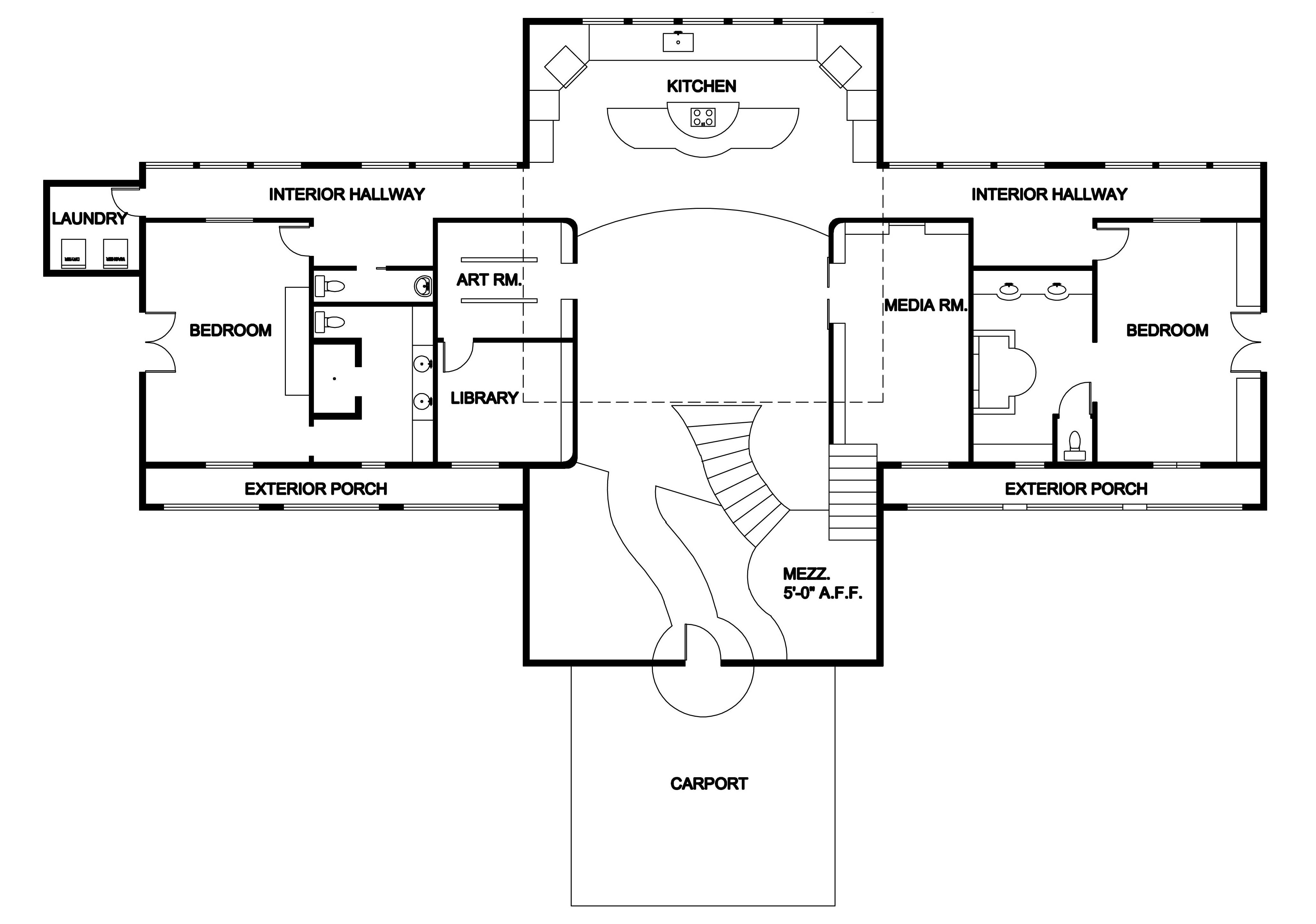 Hotel lobby floor plan - Lewis Residence 1st Floor Floor Plan