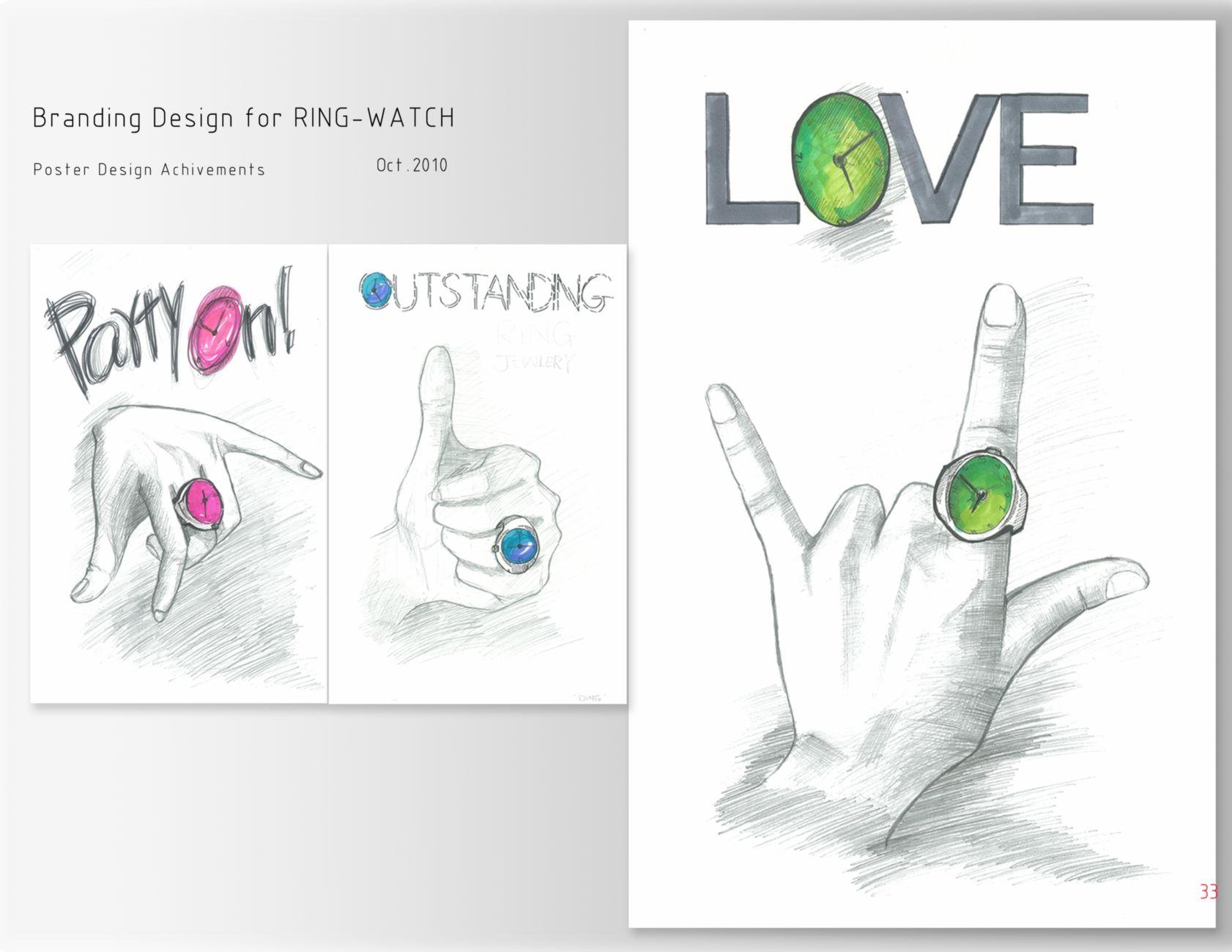 Watch Poster Design Poster Design Ring-watch
