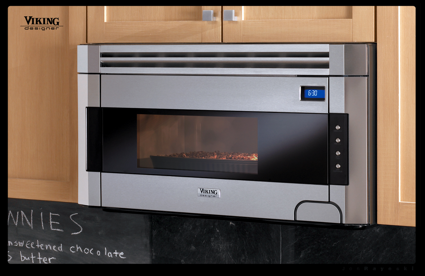 Responsibility For The New Viking Designer Series Included Design And Development Of Built In Microwave Over Range Logo Badge