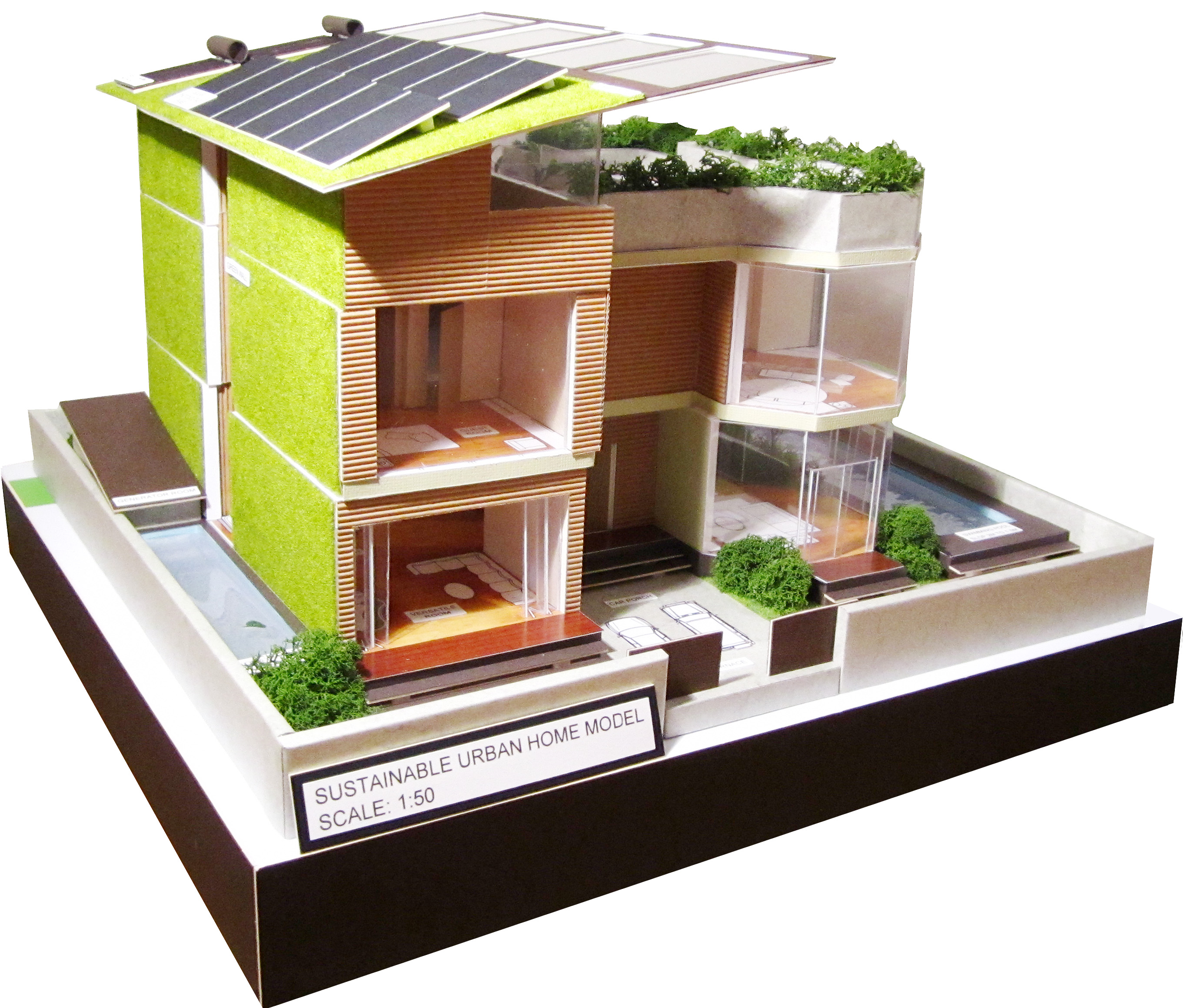 Sustainable house design by joan xu at for Sustainable homes design