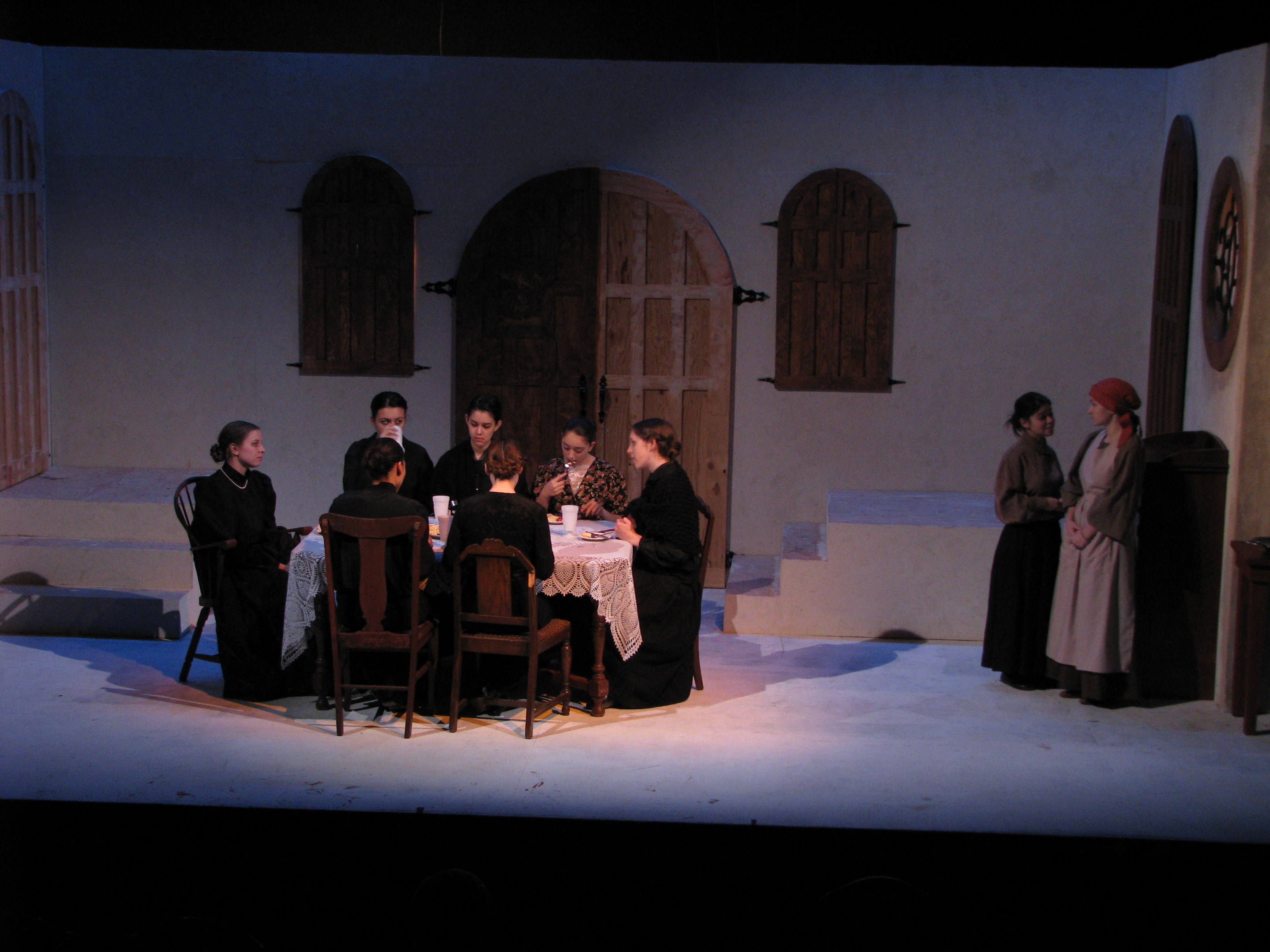 the house of bernarda alba Chay yew's percussive staging of federico garcia lorca's classic drama the  house of bernarda alba is a reminder of the stark simplicity at.