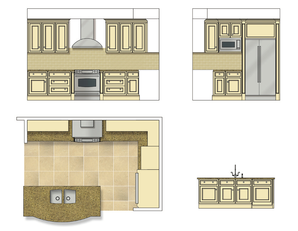 Kitchen Plan View Photoshop on symbols used in floor plans