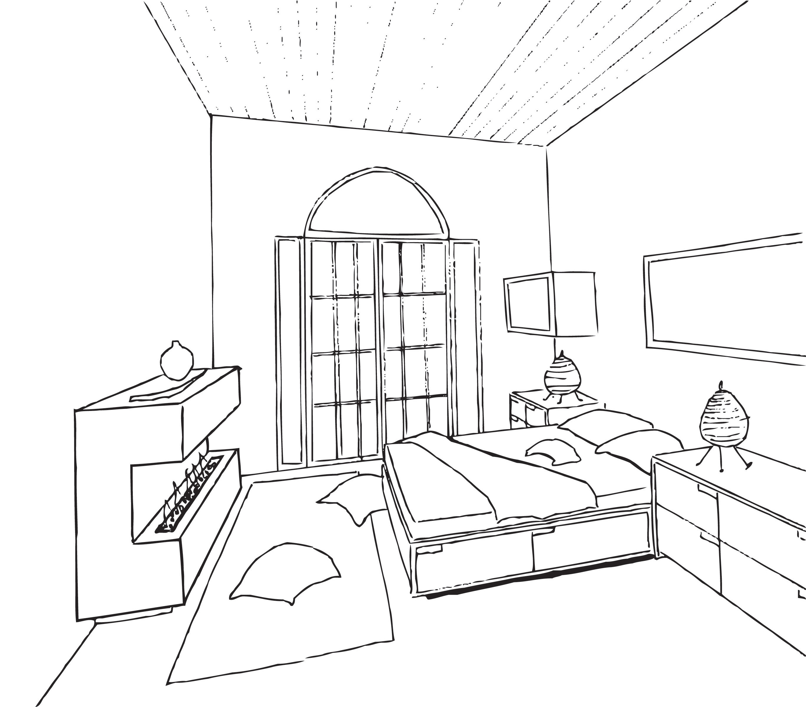 Multi story multi purpose design by linda betts at for 3d bedroom drawing