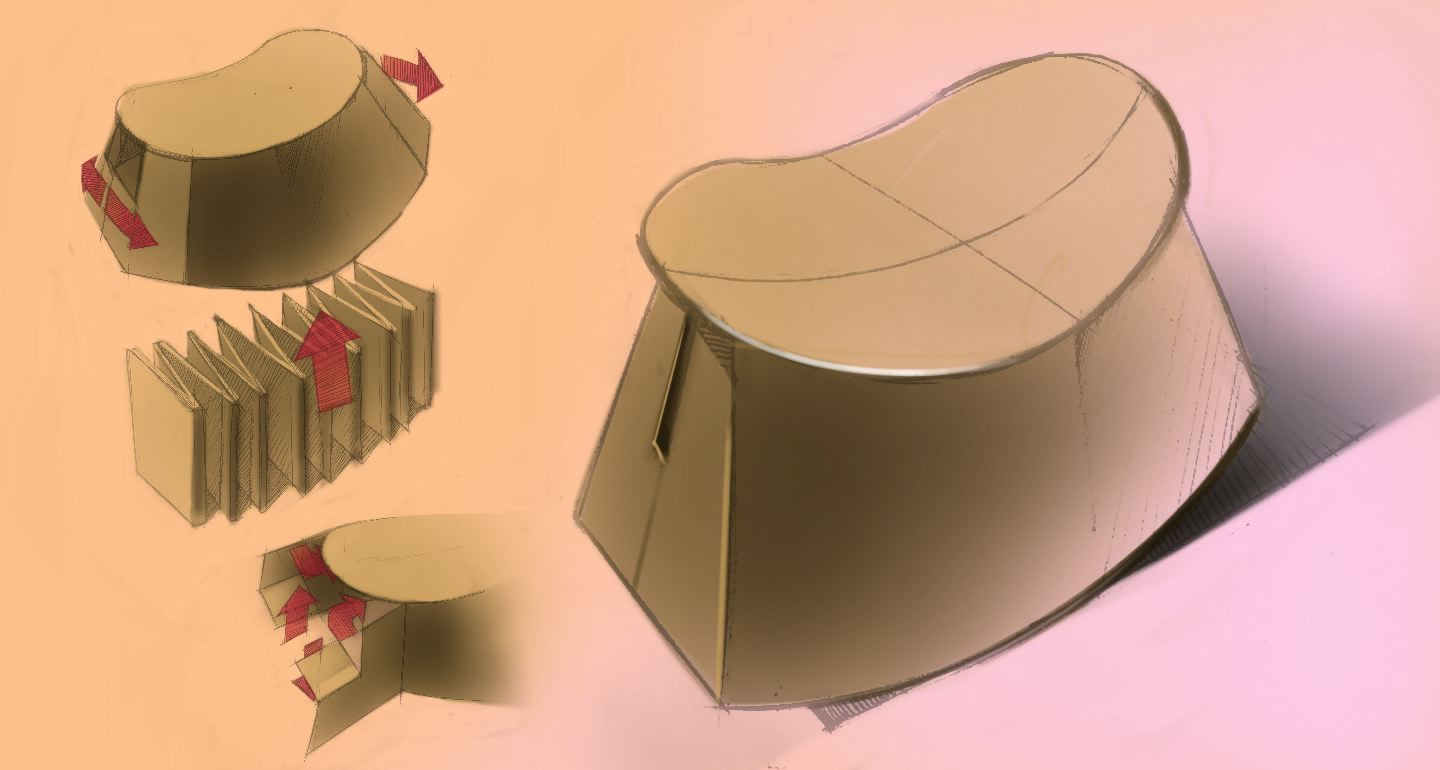 Cardboard rocking chair - Ideation For The Structure Of The Chair Board Rocking Chair