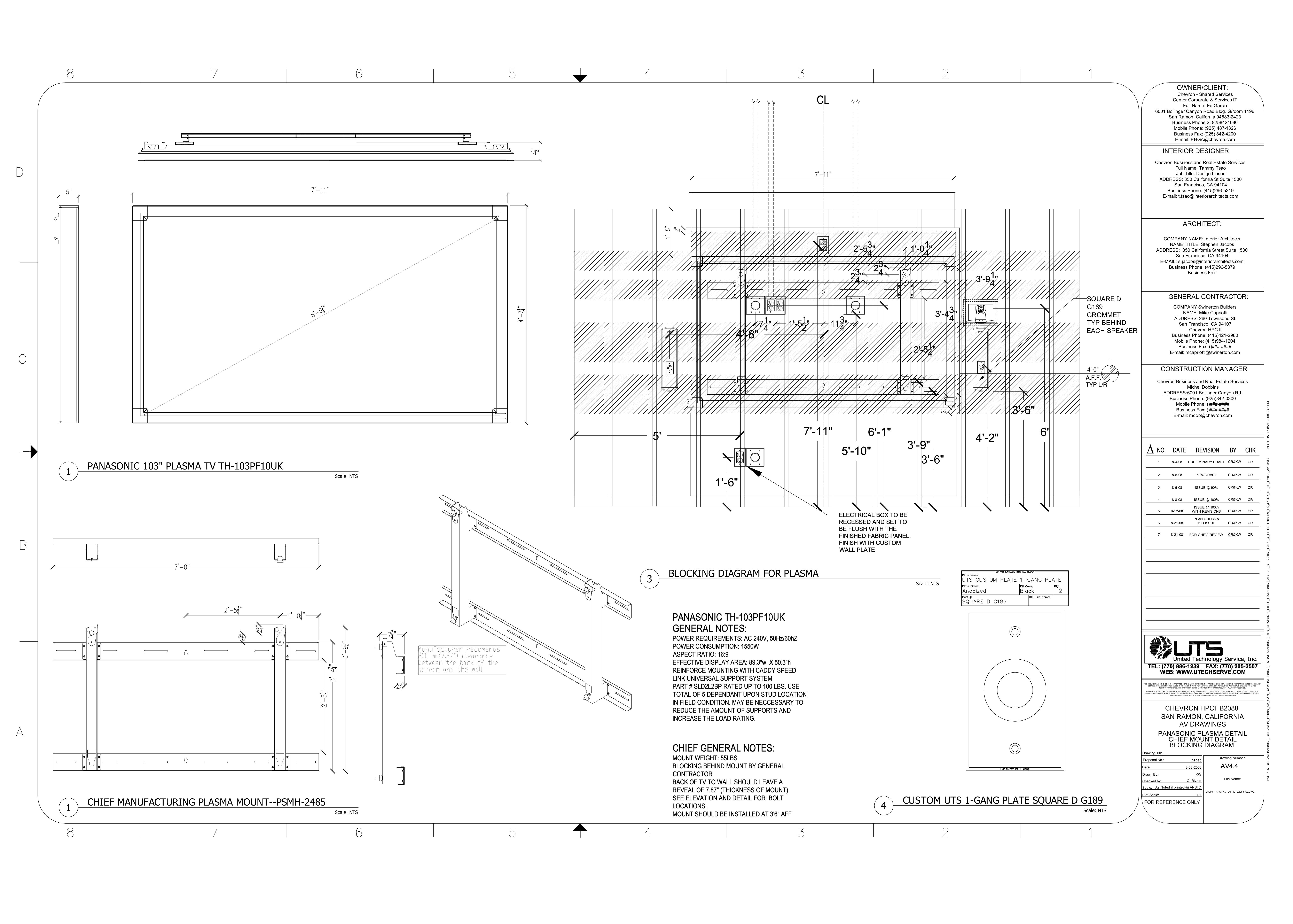Table Plan Elevation Section Modern House