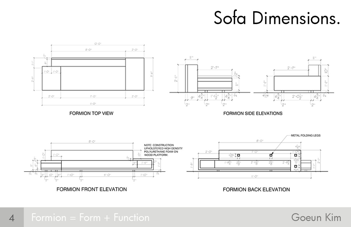 Sofa Dimensions Images Galleries With