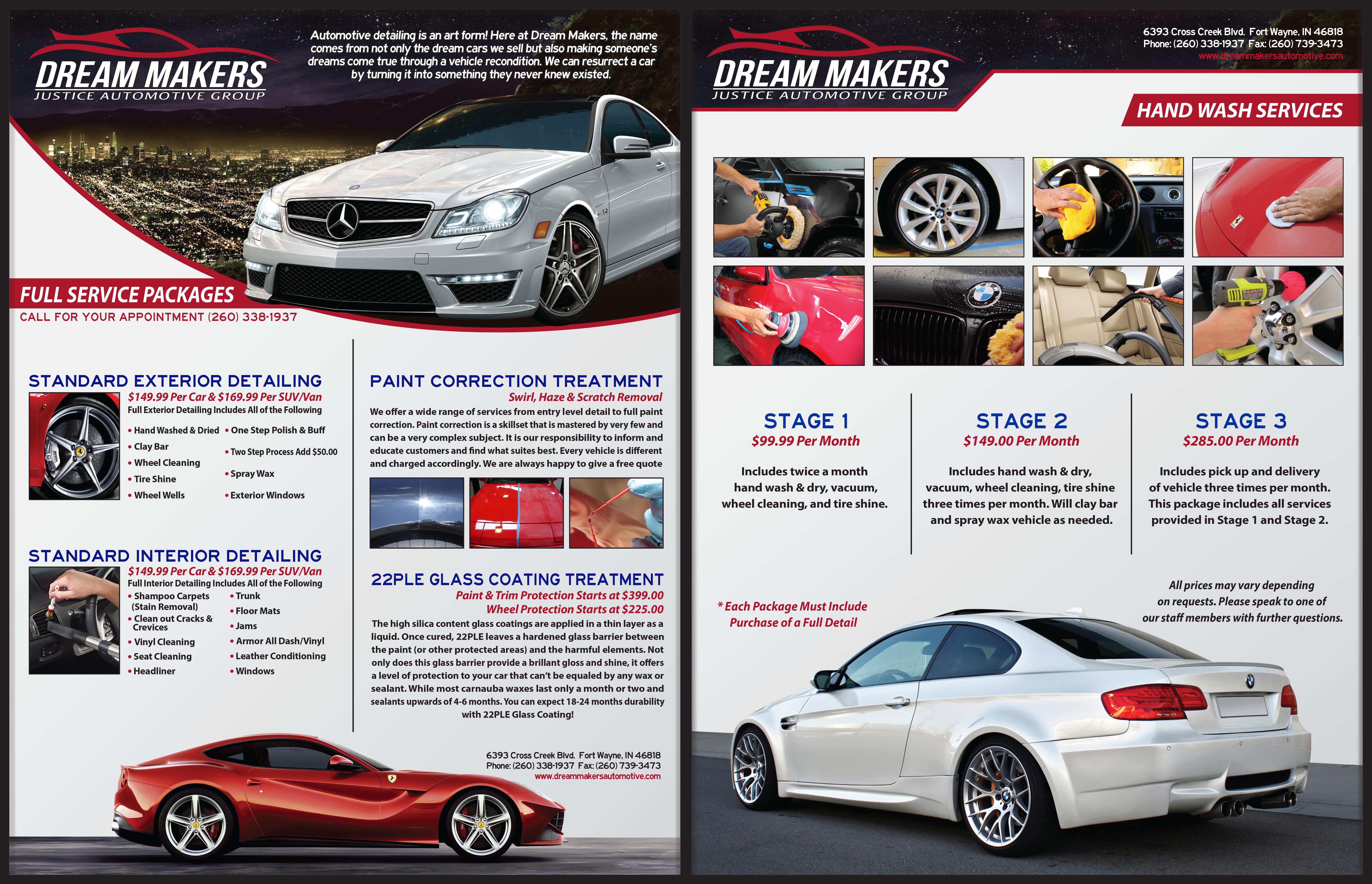 Magazine Flyer Design by Robert Glover at Coroflot – Auto Detailing Flyer Template