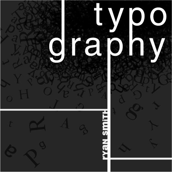 Typographic Book Cover Zwart ~ Typography by ryan smith at coroflot