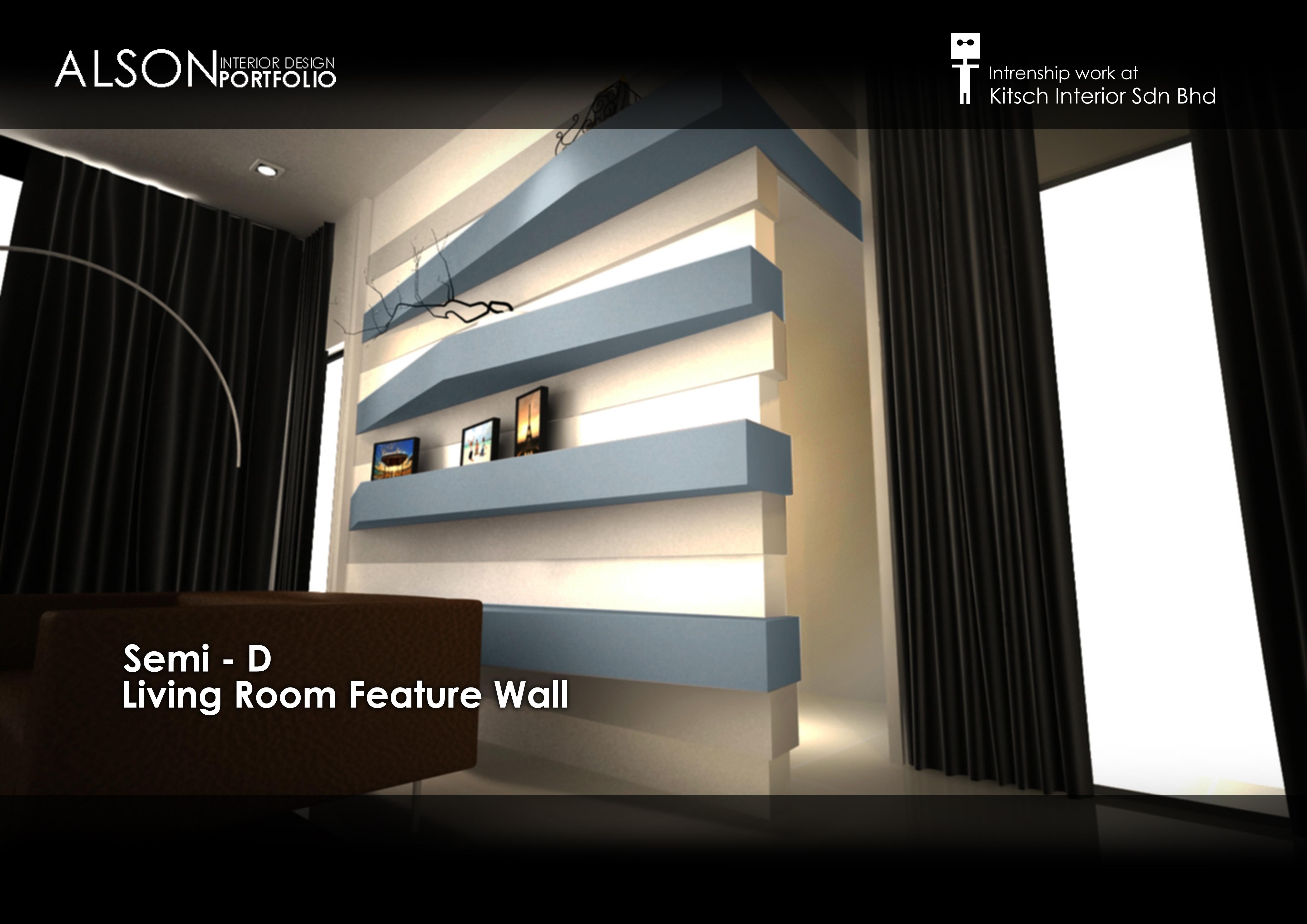 Internship Work Semi D Feature Wall Design By Tan Seng