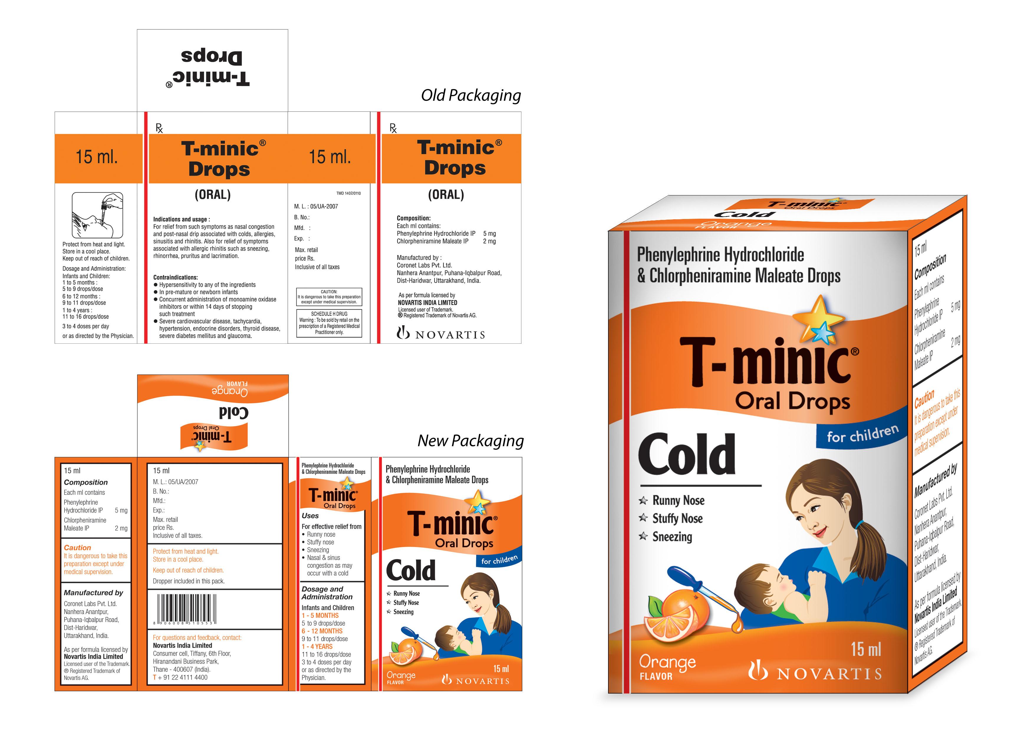 t minic oral drops composition