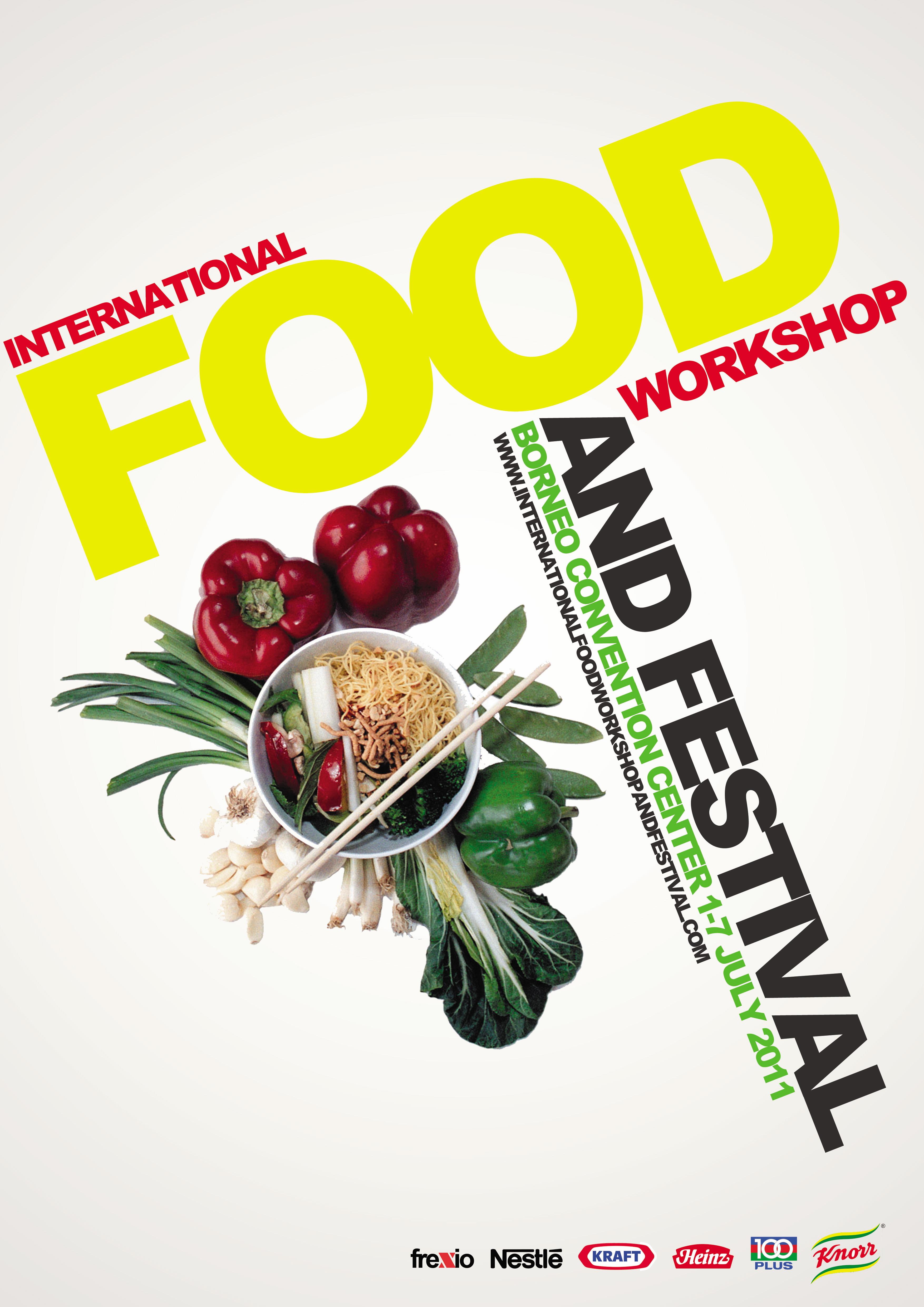 concept of international food event poster by frendy wijaya at. Black Bedroom Furniture Sets. Home Design Ideas