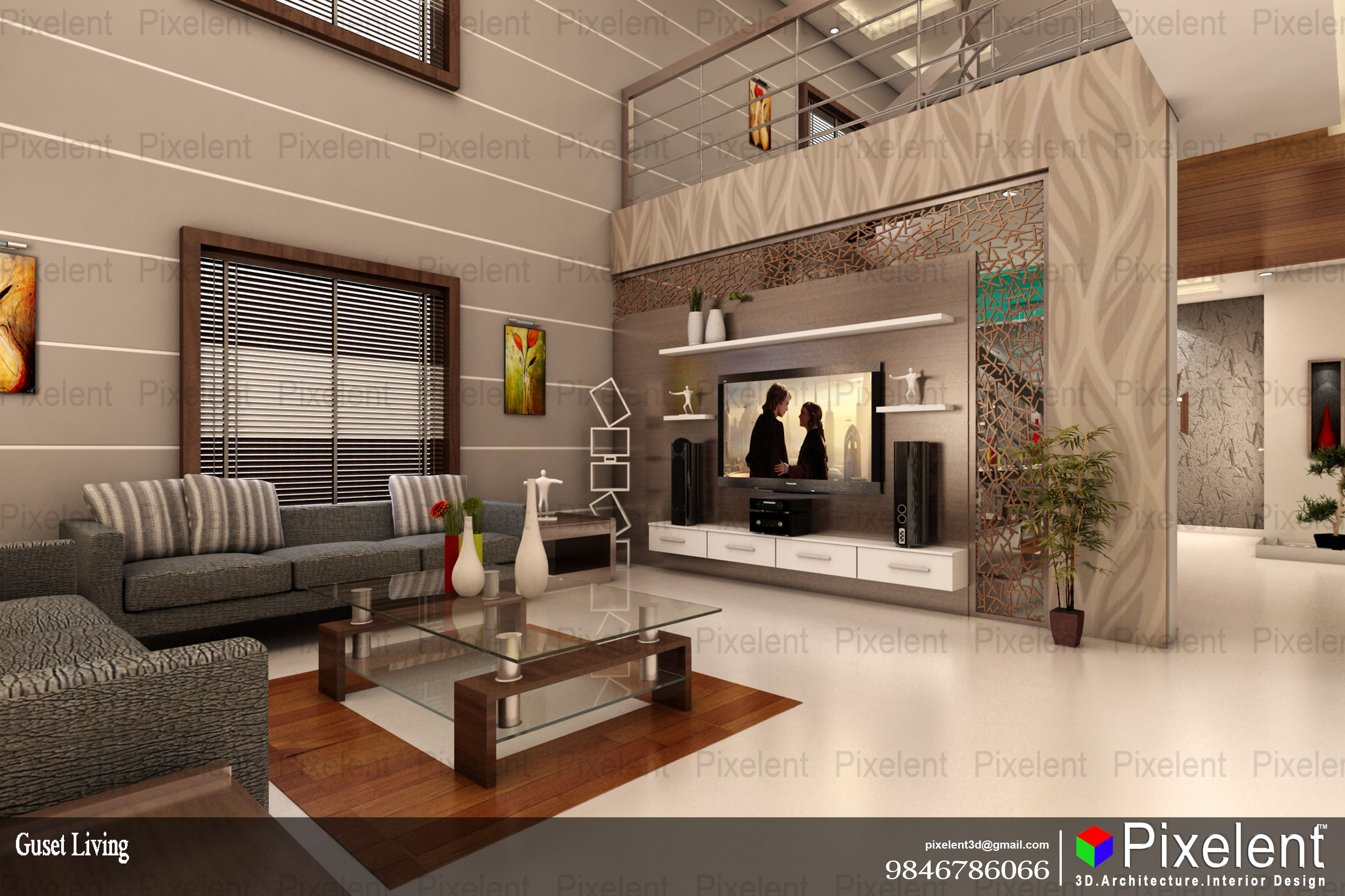 Our interior design works by pixelent 3d exterior for Interior and exterior design