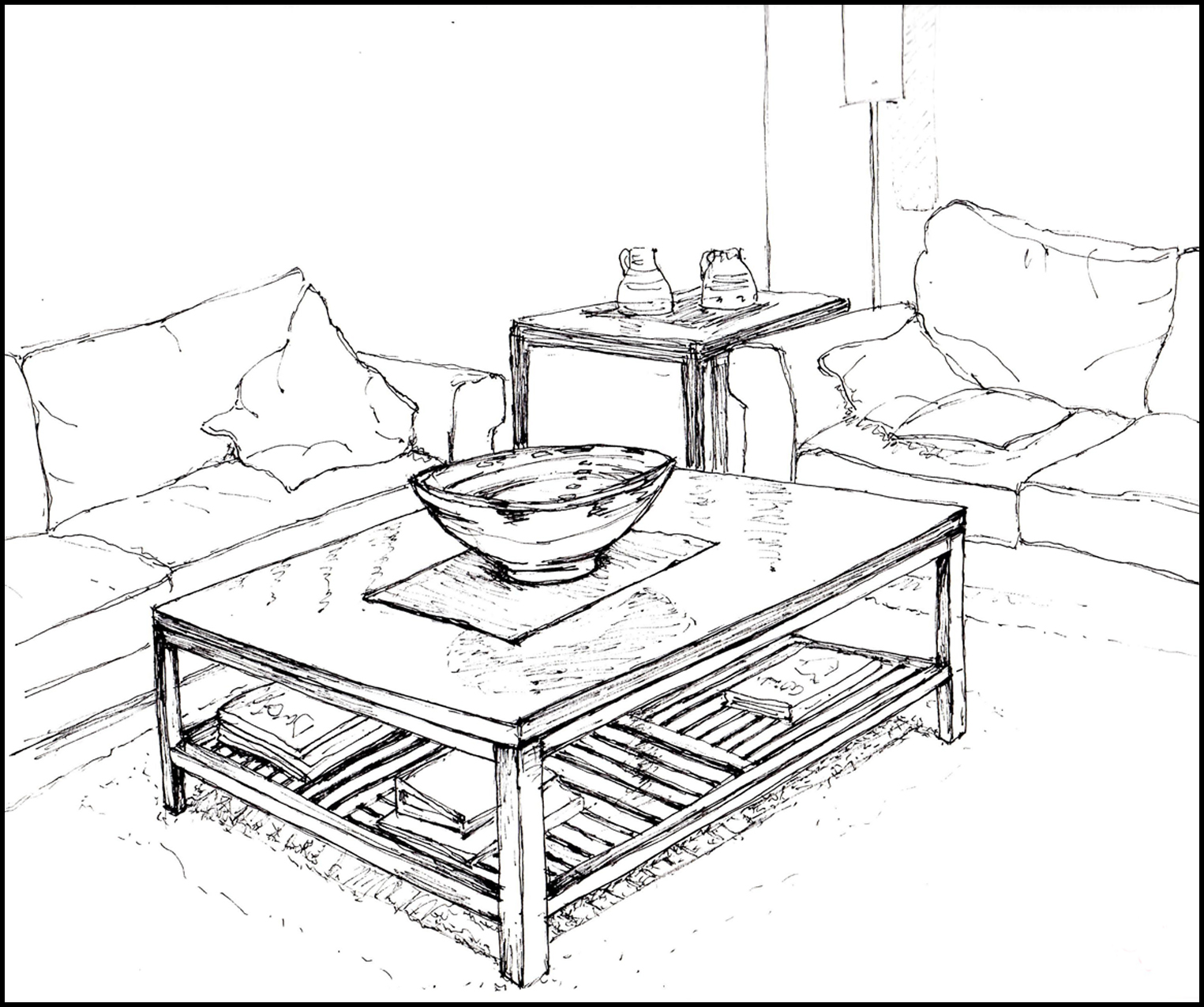living room sketch sketch of living room