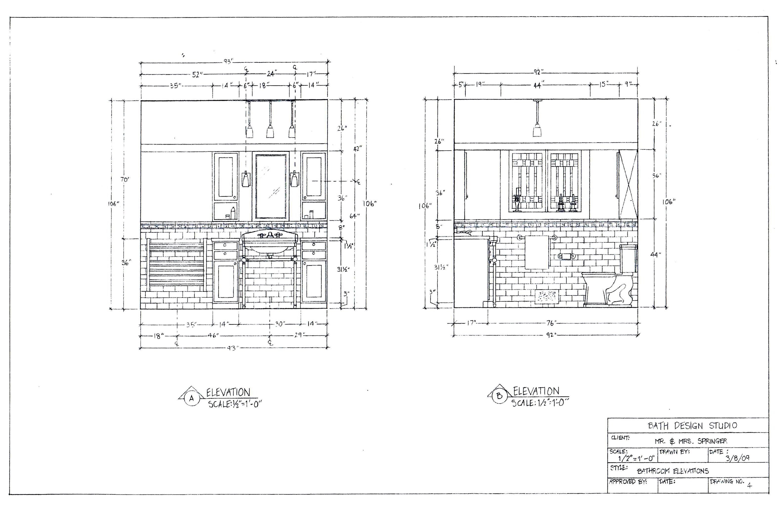 designs bathroom elevation