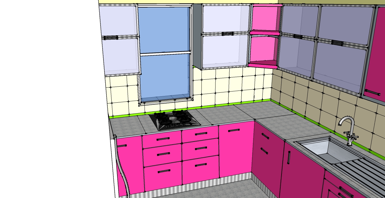 Kitchen design by khushboo kapur at for Kitchen design 6 x 8