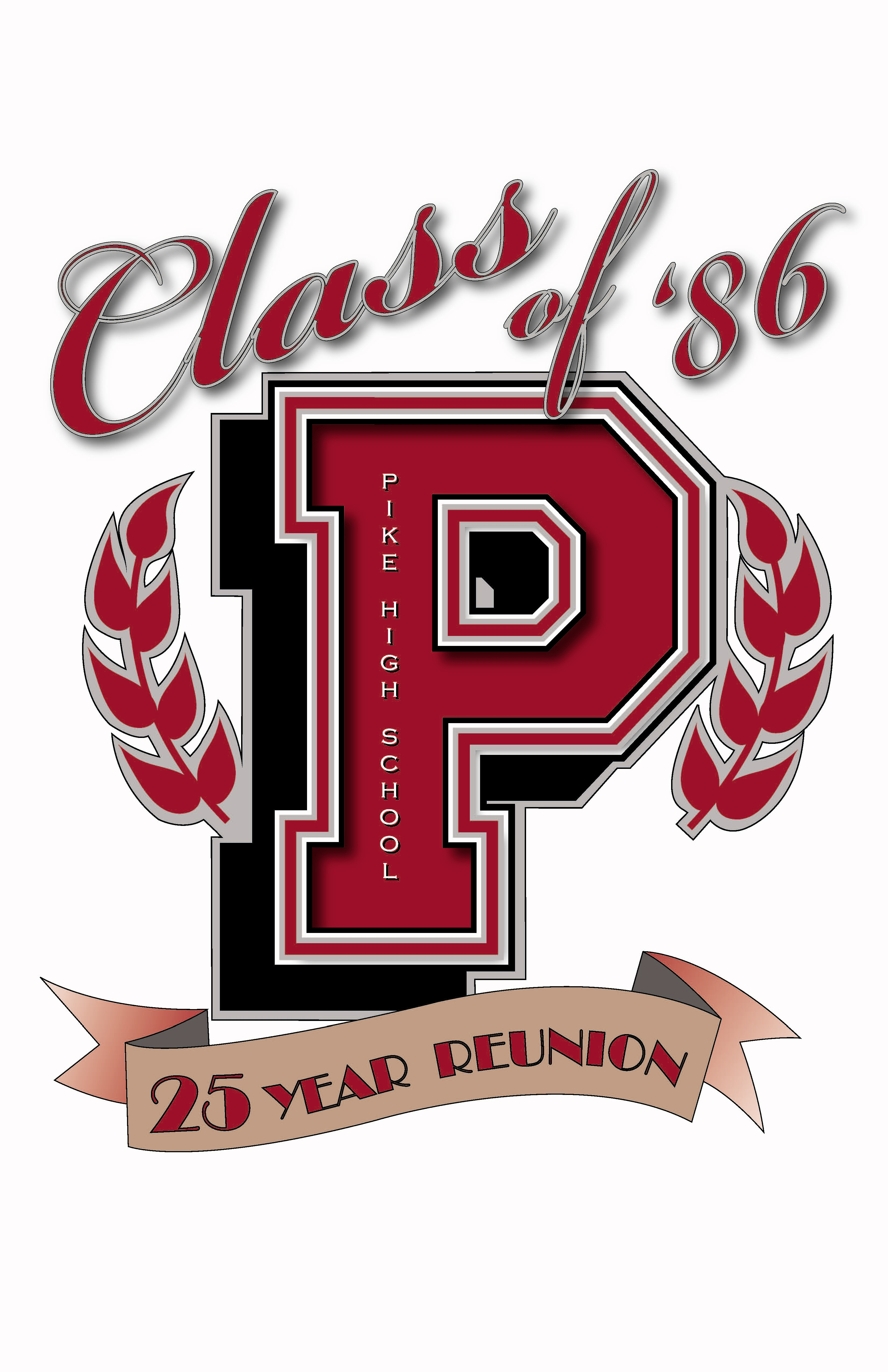Design t shirt for class - Pike High School Class Of 86 Logo Design Logo Design For My 25th Class Reunion For T Shirt And Hats