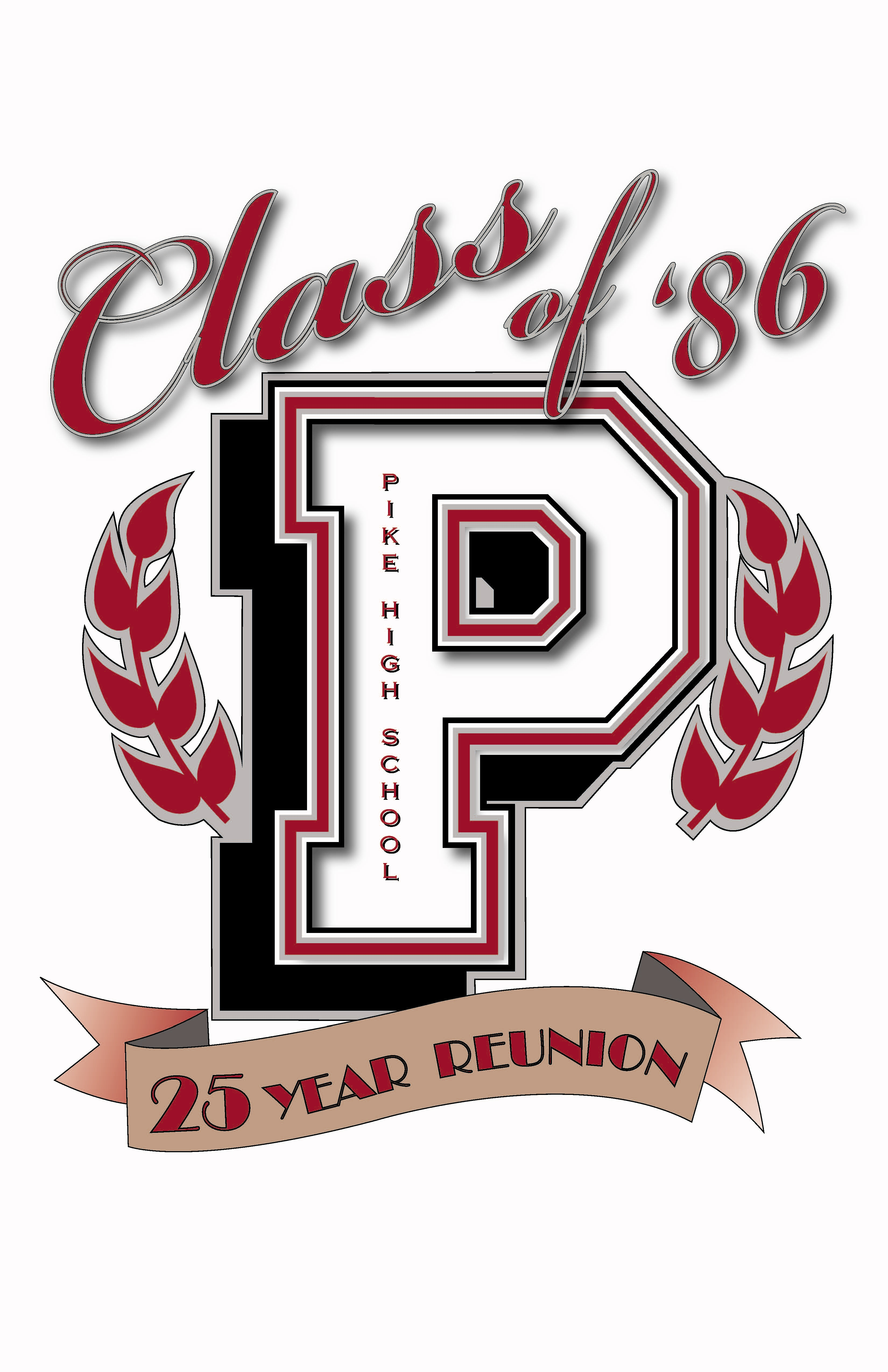 Design t shirt class - Pike High School Class Of 86 Logo Design For My 25th Class Reunion For T Shirt And Hats