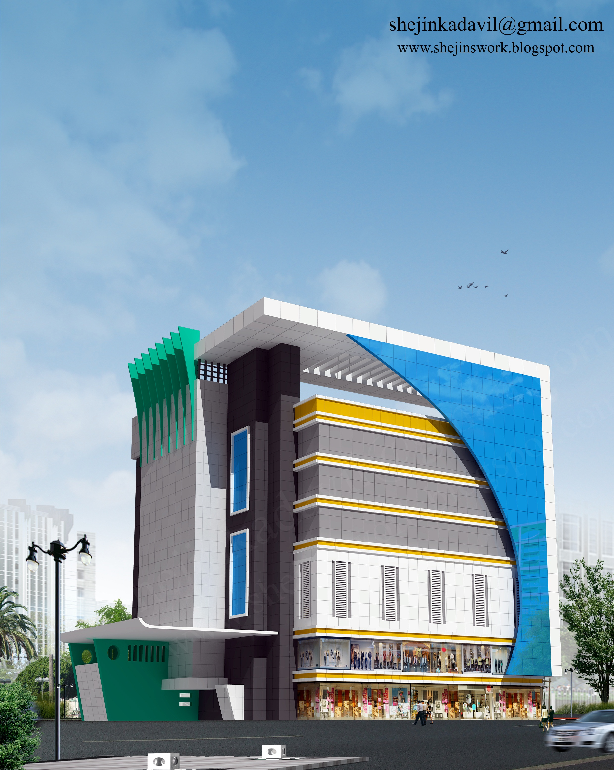 Acp Front Elevation Showroom Design : Acp elevation design joy studio gallery best