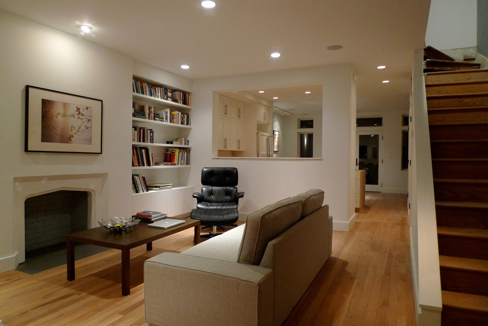 Dc row house renovation by kristian hoffland at for Home renovation design