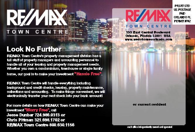 property management marketing postcards