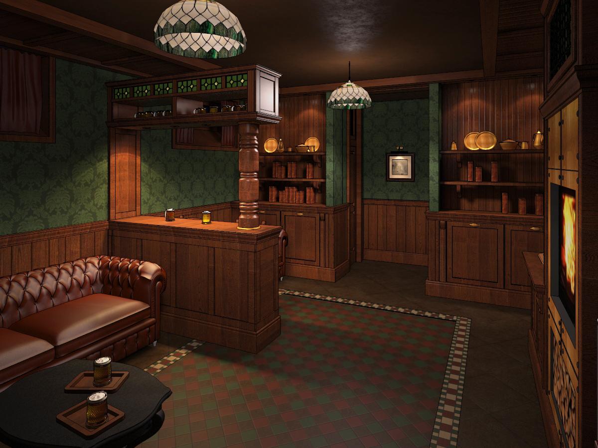 Rest room irish pub by nikita zagurskii at for Irish pub decorations home