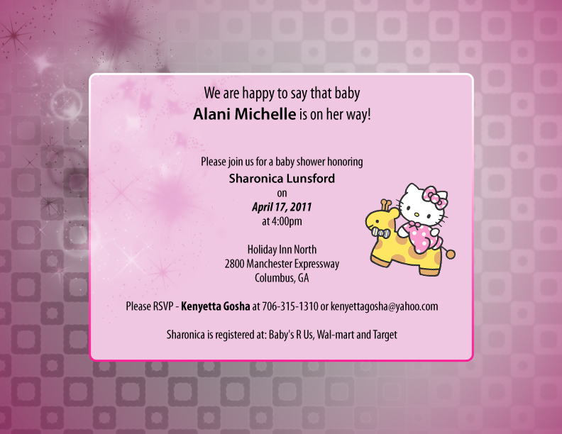 Baby Shower Invitations & Thank you cards by Jerrine ...