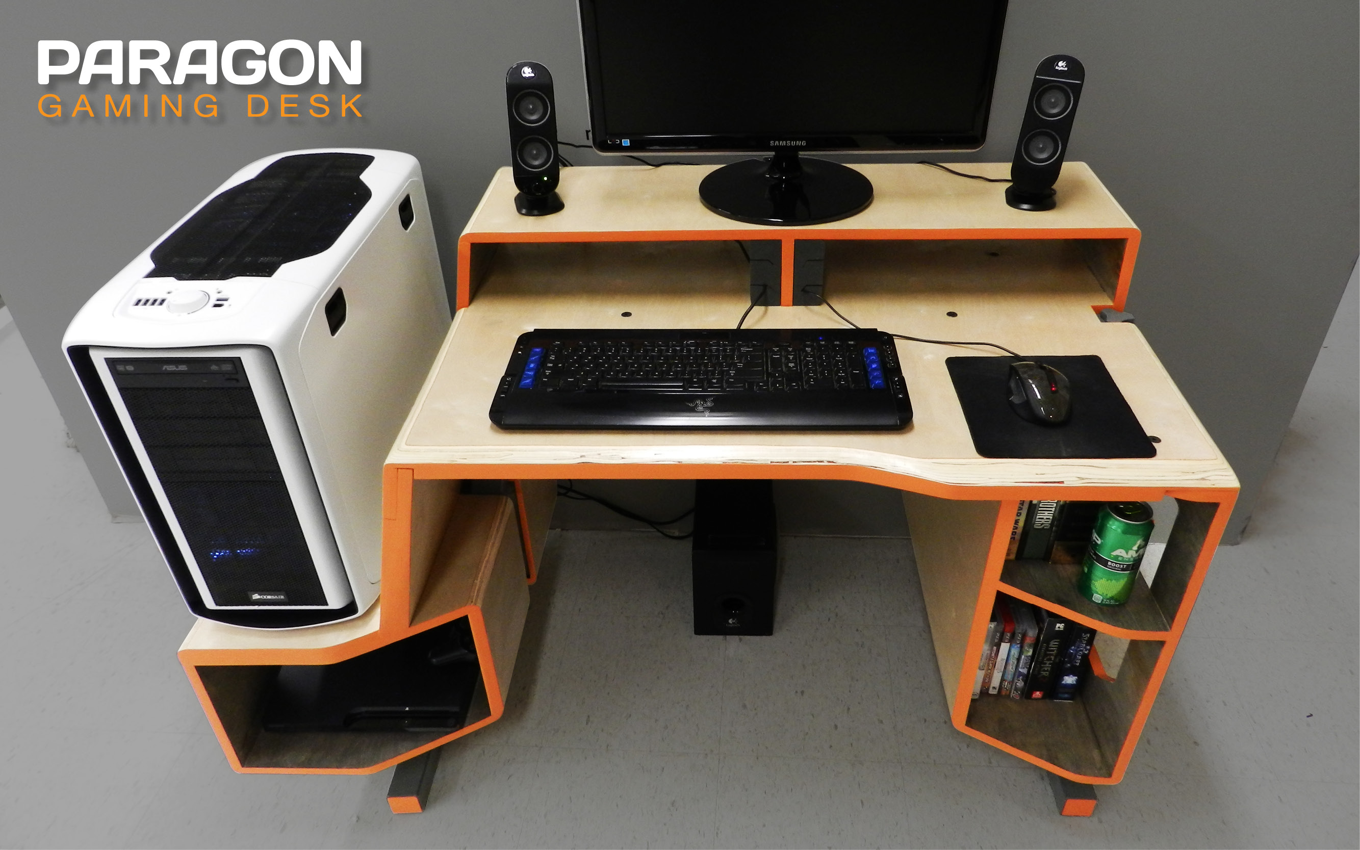 PARAGON Gaming Desk by Tom Balko at Coroflot.com