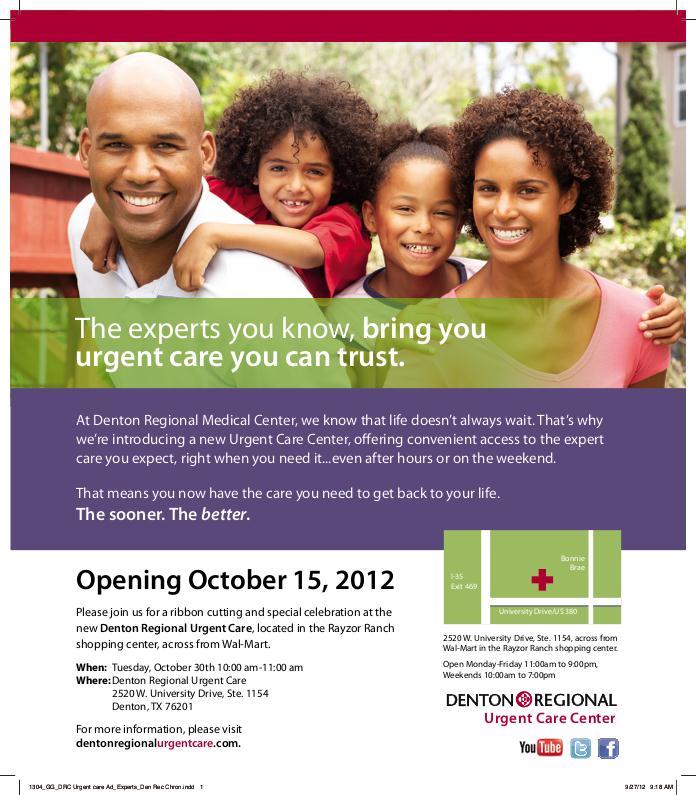 Denton- Urgent Care Center by Russell Mariott at Coroflot.com