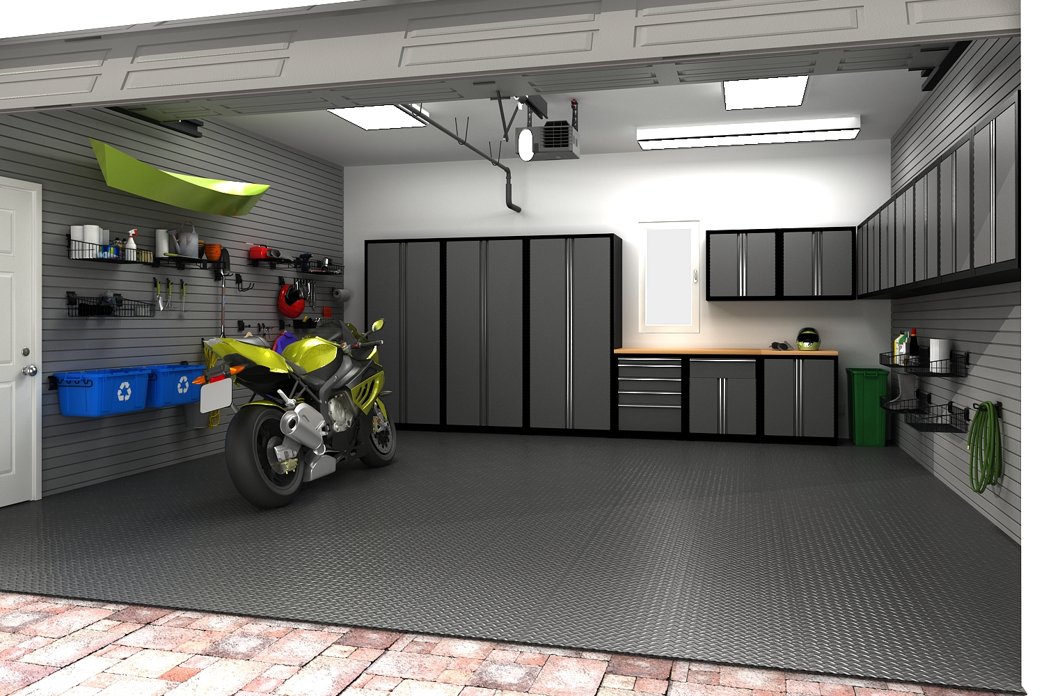 Product visualization by method creative studios inc at for Car garage interior design