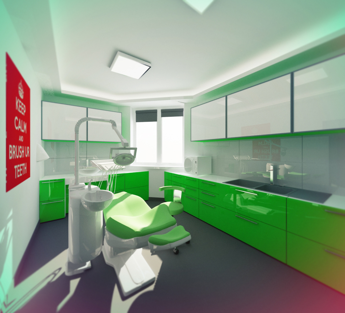 Small dental clinic interior by piotr wiosna at for Dental clinic interior designs