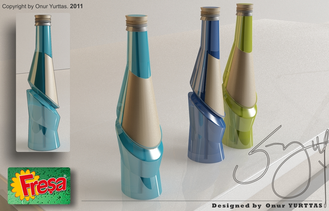 Bottle design 4 by onur yurttas at for 2 by 4 design