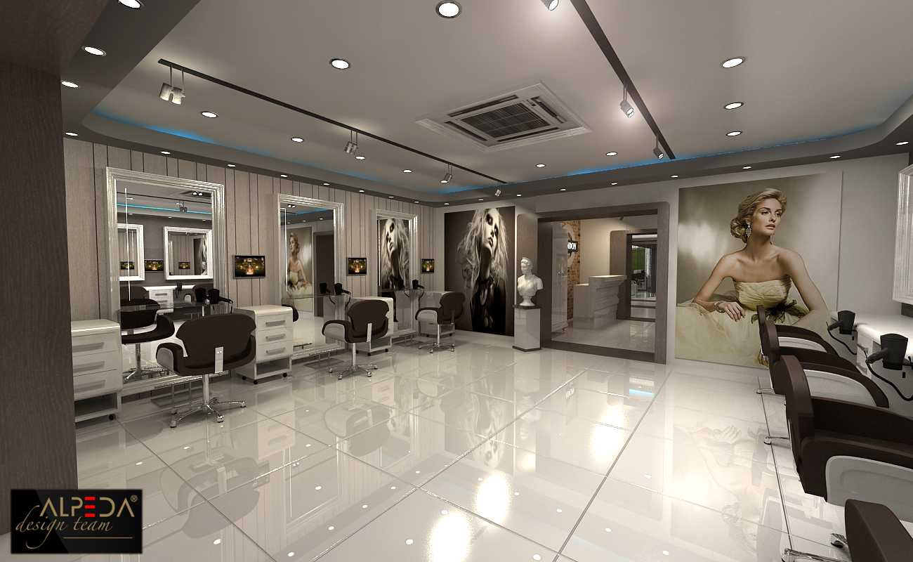 Coiffure salon design by onur yurttas at - Sallon design ...
