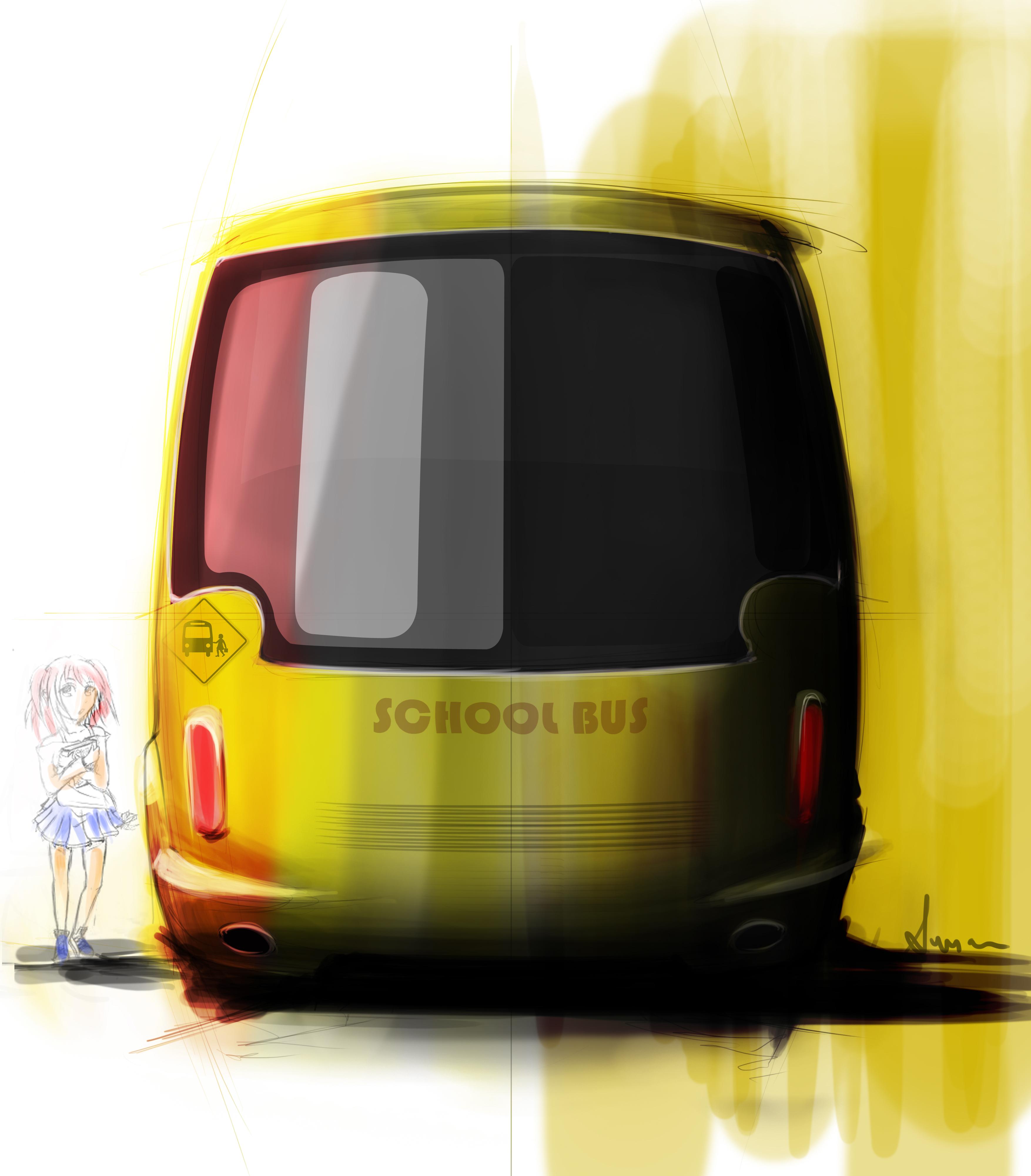 School Bus concept. by Susovan Mazumder at Coroflot.com Concept School Bus