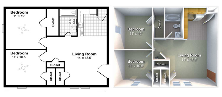 3d by sachin sharma at for Small rental house plans