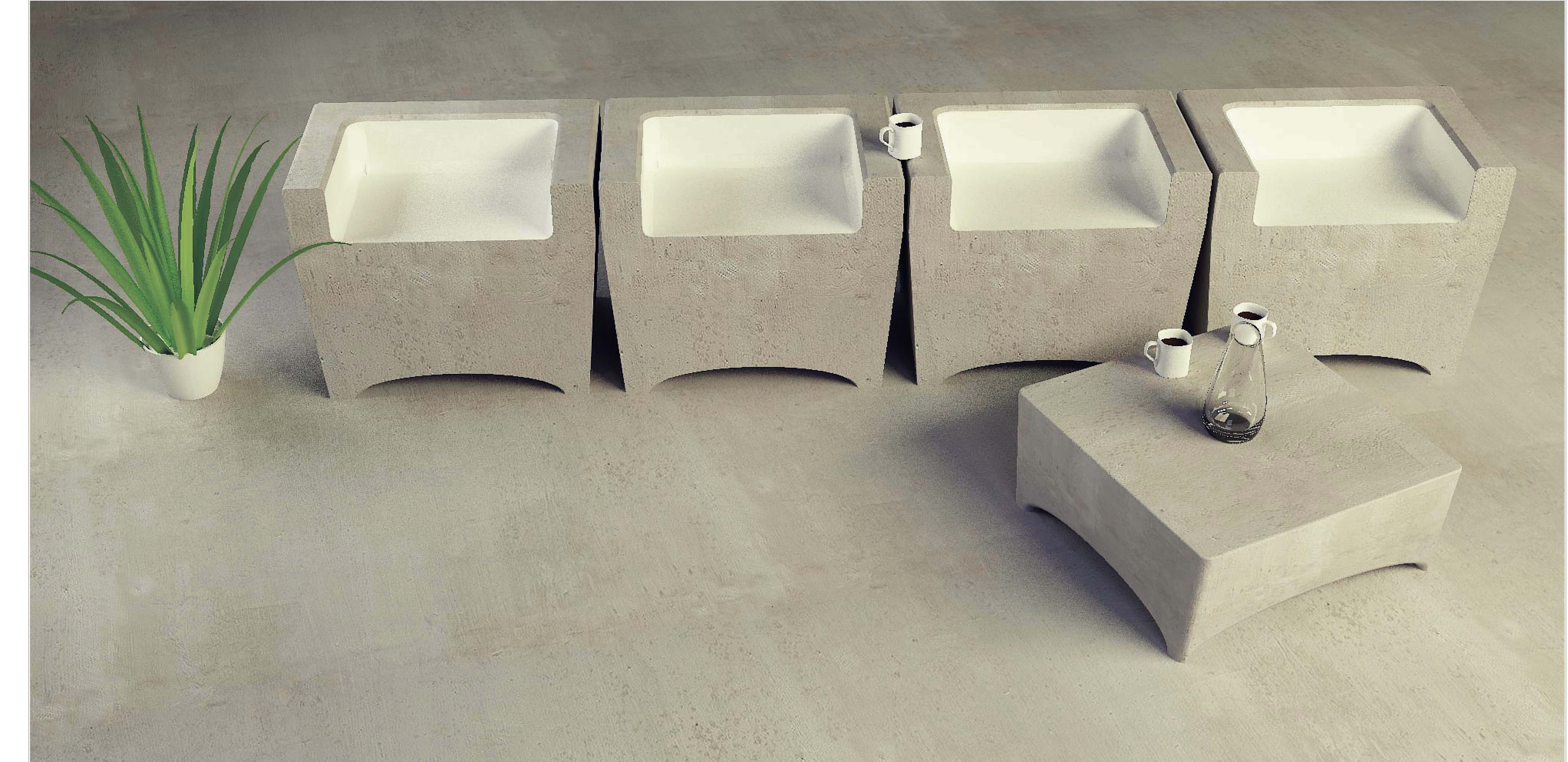 ... Patio Furniture Concrete Patio Furniture Concrete Favorite Qview Full  Size Stony Form Outdoor ...