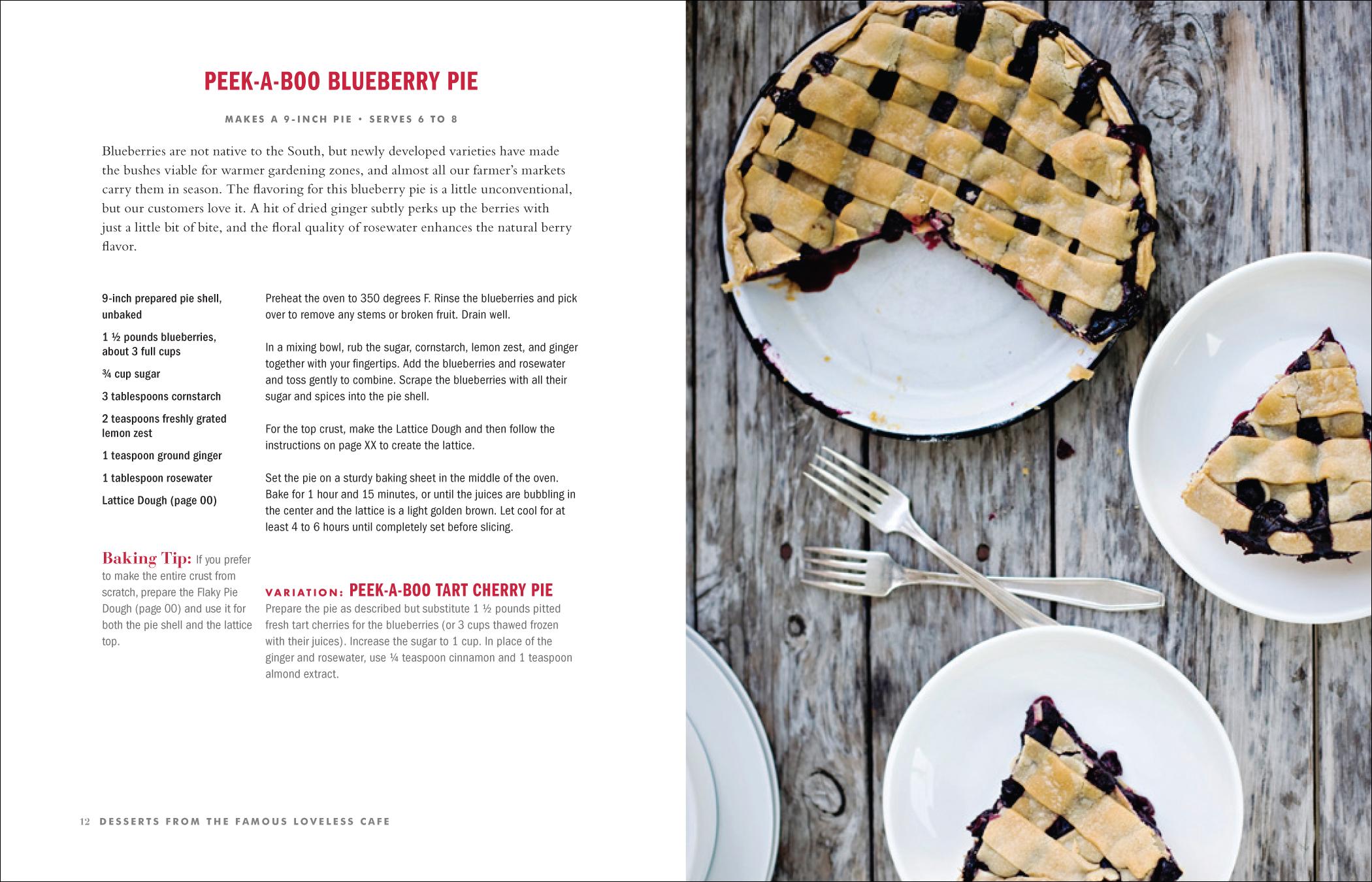 Loveless Cafe Dessert Book by Susan Baldaserini at Coroflot.com