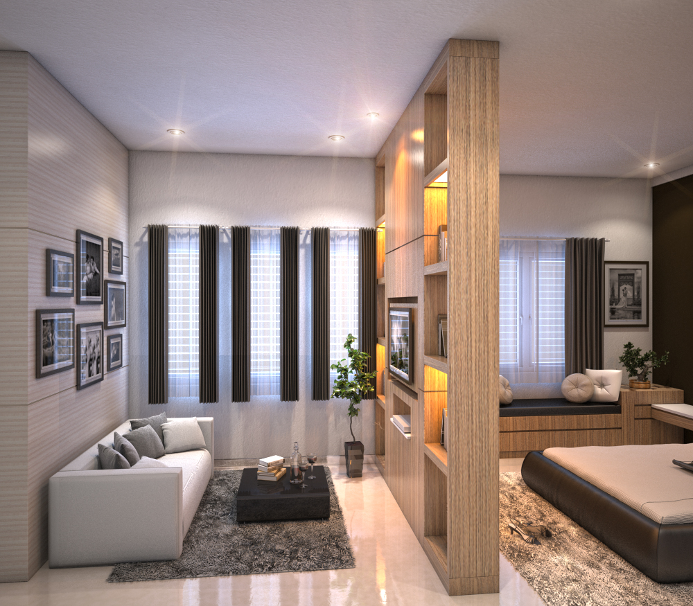 3d interior by syah johan at for Walk in closet designs for a master bedroom