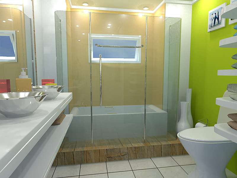 Digital Model Bathroom Some Samples Of My Work In 3d Design