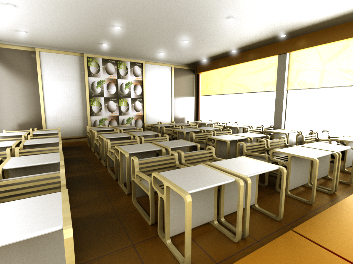 Modern classroom interior design for Internal design