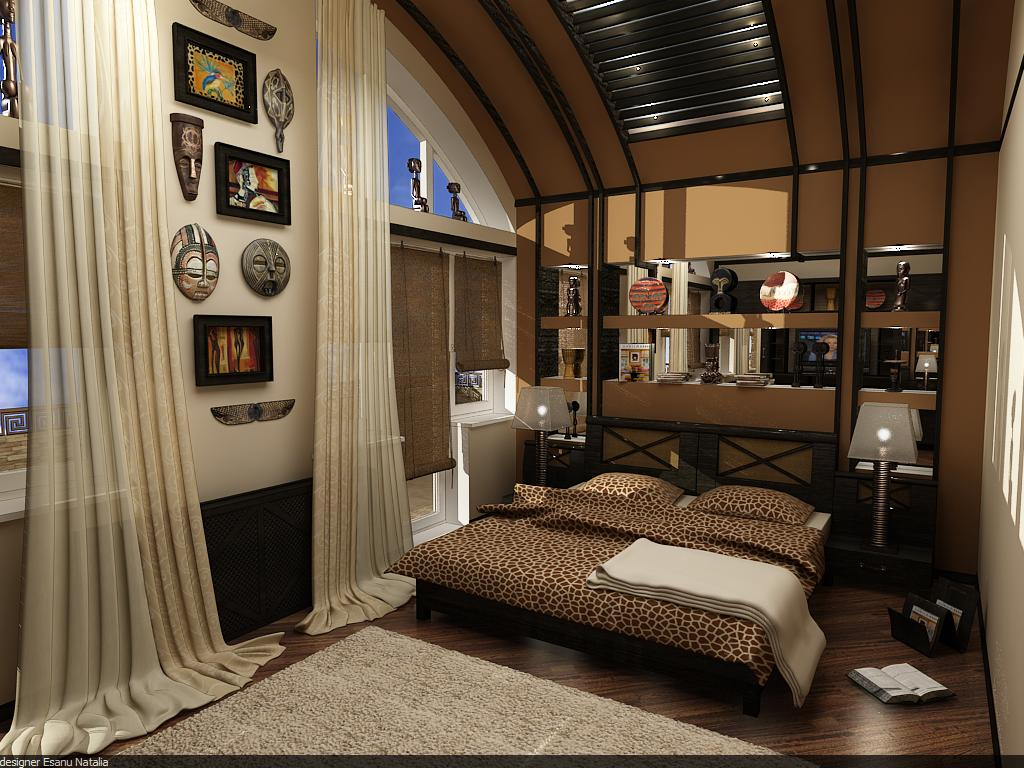 Bedroom interior design by novac natalia at for Ethnic bedroom ideas