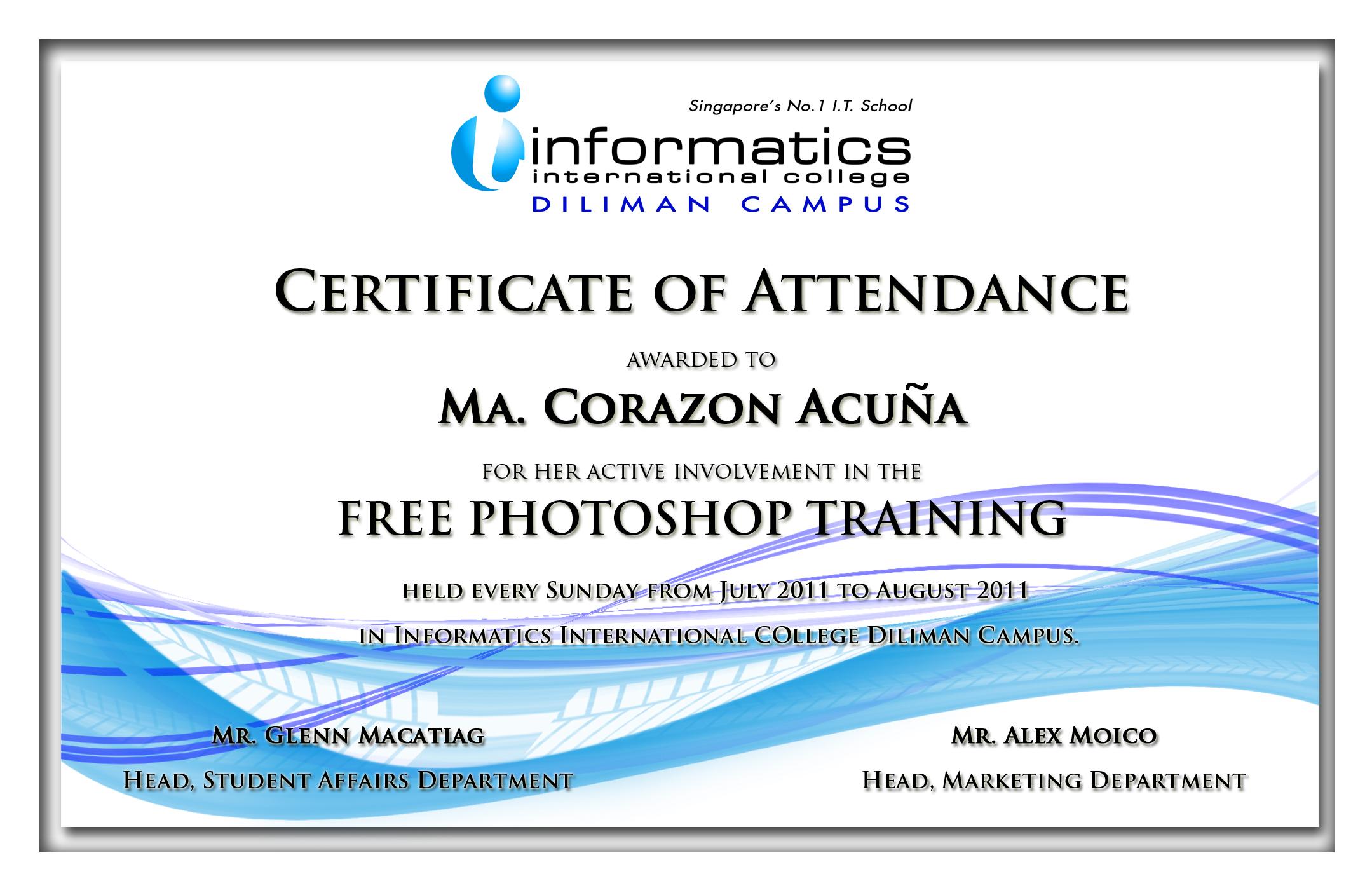 Certificate Templates by maricris jannine jamig at Coroflot – Corporate Certificate Template