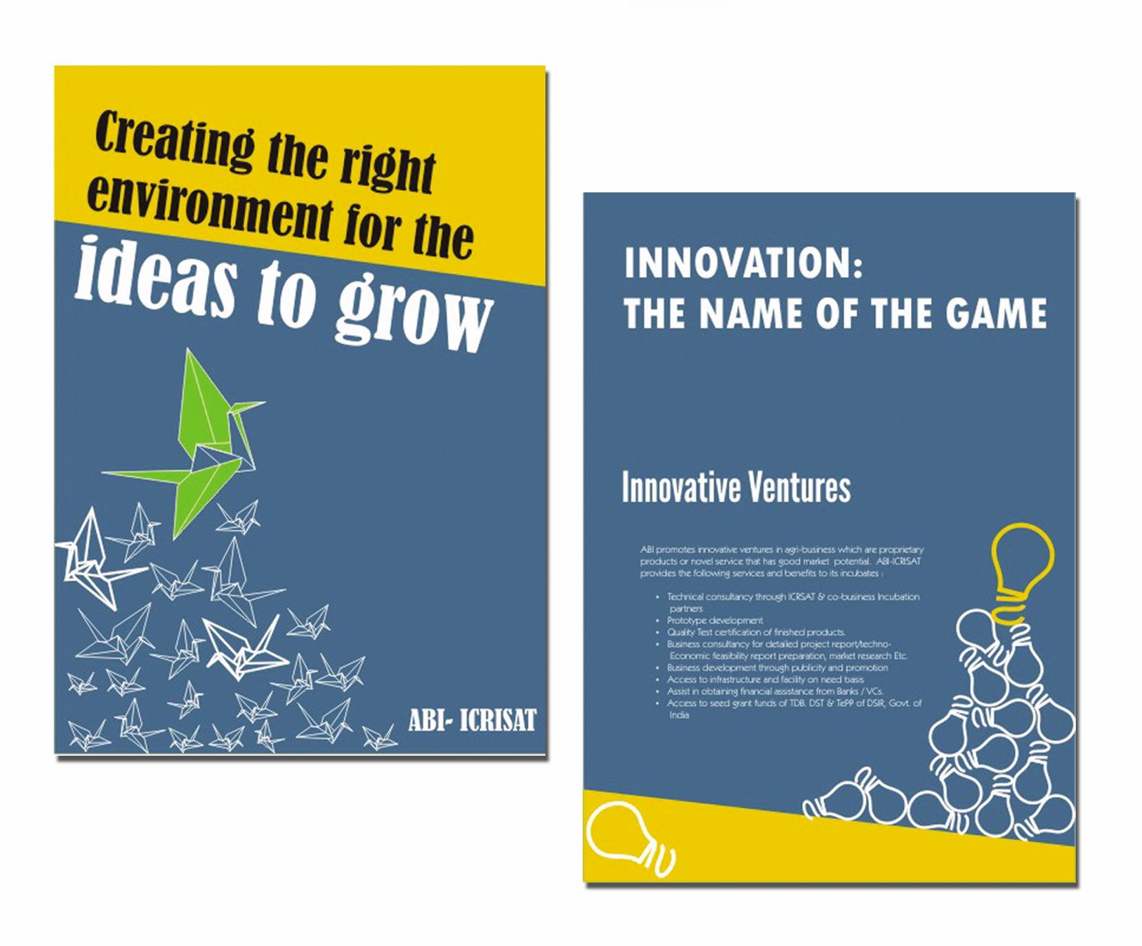 Poster design for coaching institute - Poster Design For Coaching Institute Brochure Design Brochure Design For Abi Icrisat Incubation Centre