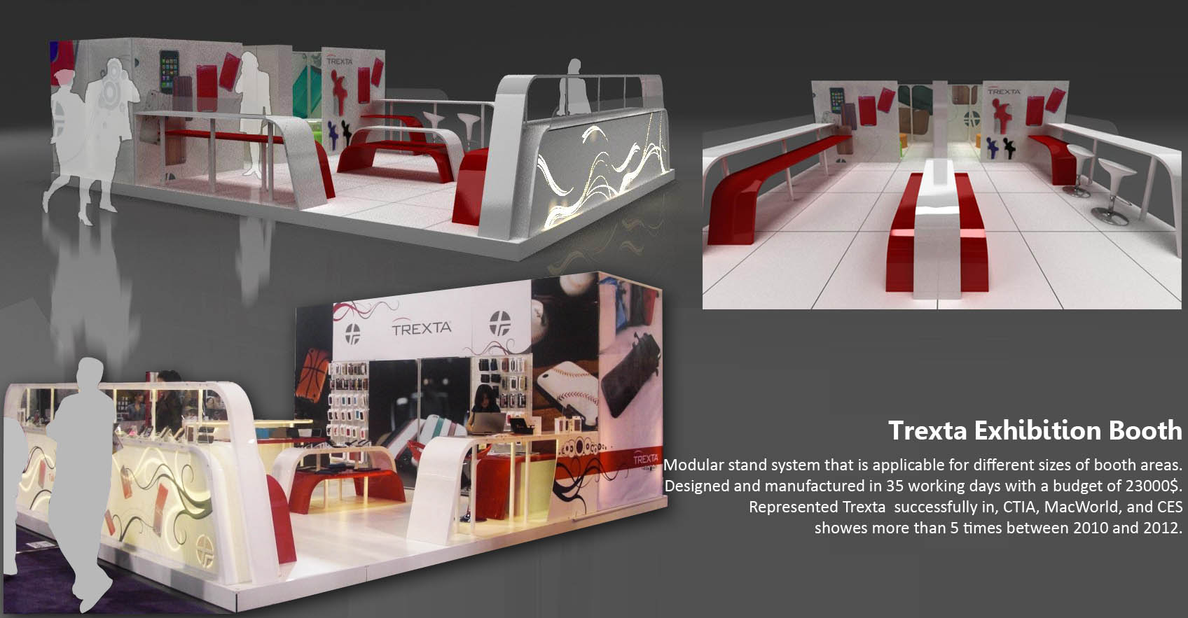 Exhibition Booth Usa : Trexta usa exhibition booth by hale surmeli at coroflot