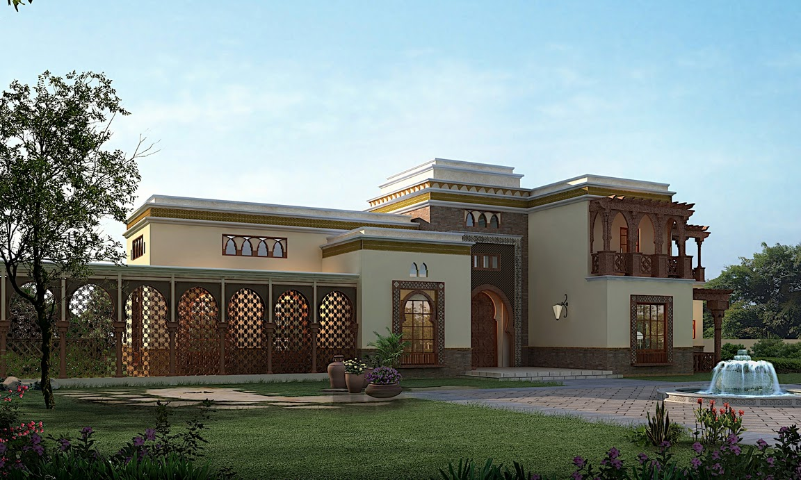 Arabic Style Villa Section 02 on modern design house