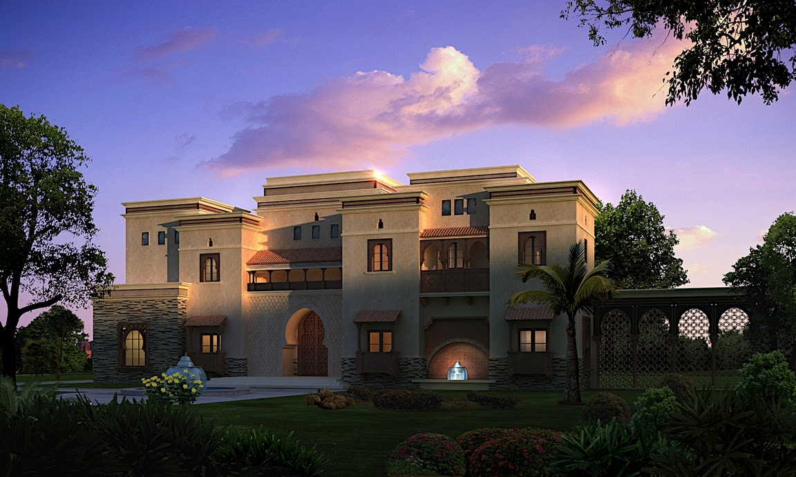 Arabic style villa section 02 by dheeraj mohan at for Arabic home design