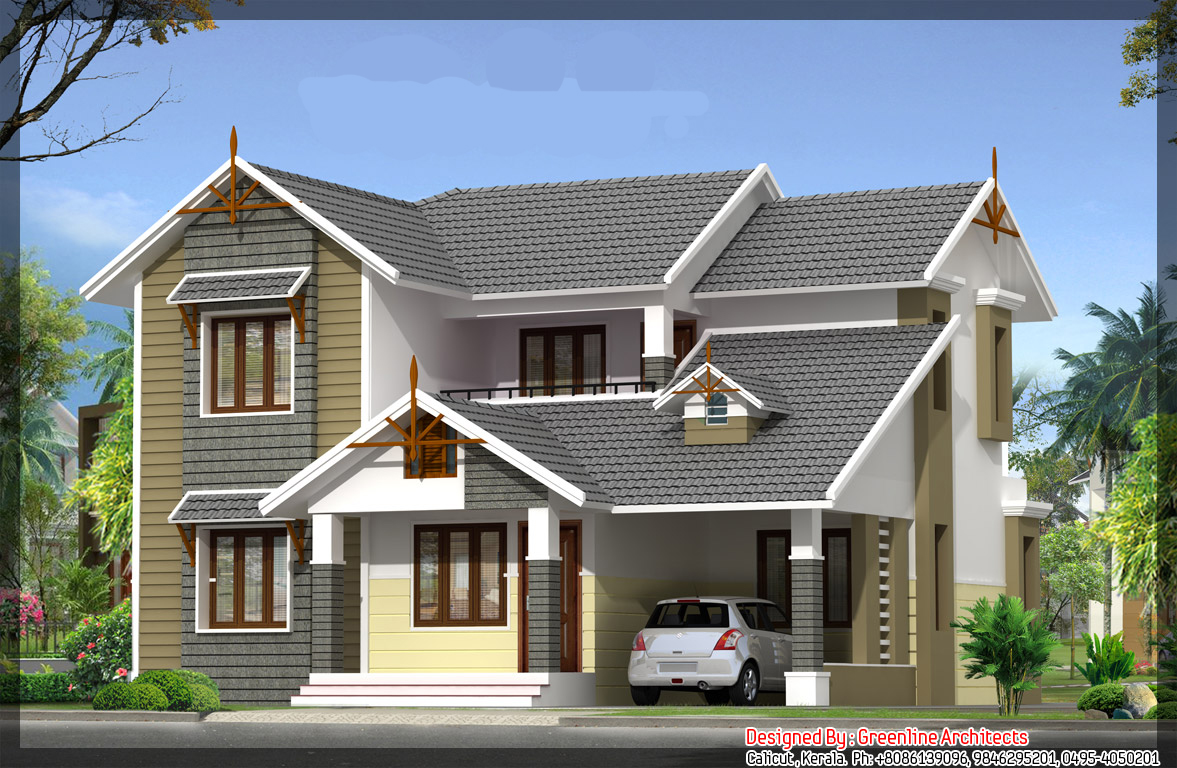 Kerala villas by dheeraj mohan at for House elevation models