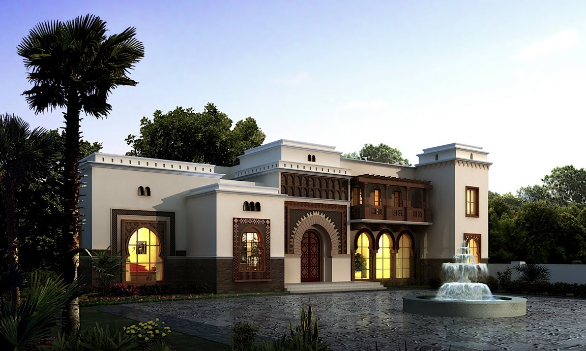 Arabic style villa section 02 by dheeraj mohan at for Lebanese home designs